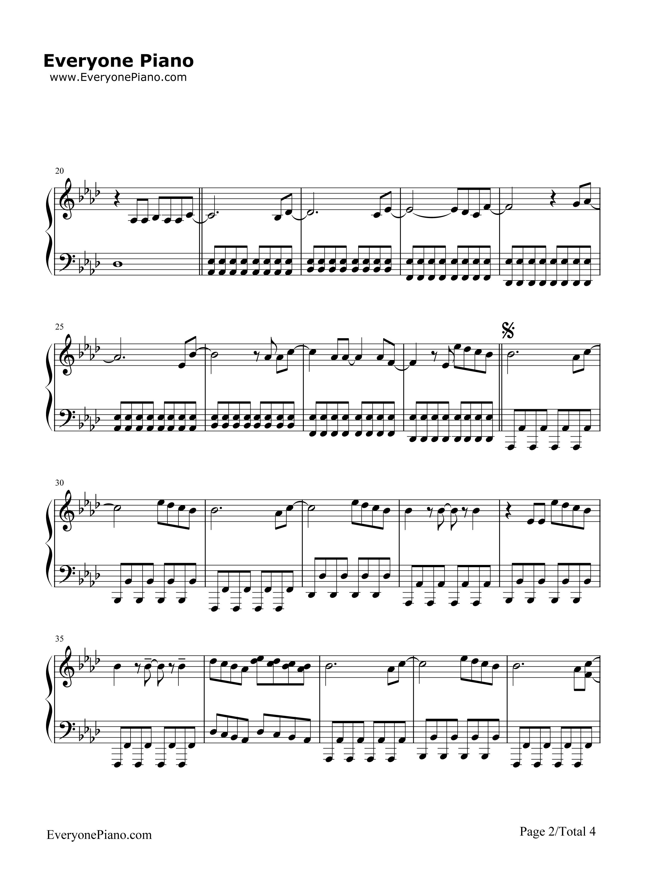 firework伴奏版-katy perry五线谱预览2-钢琴谱(,双手