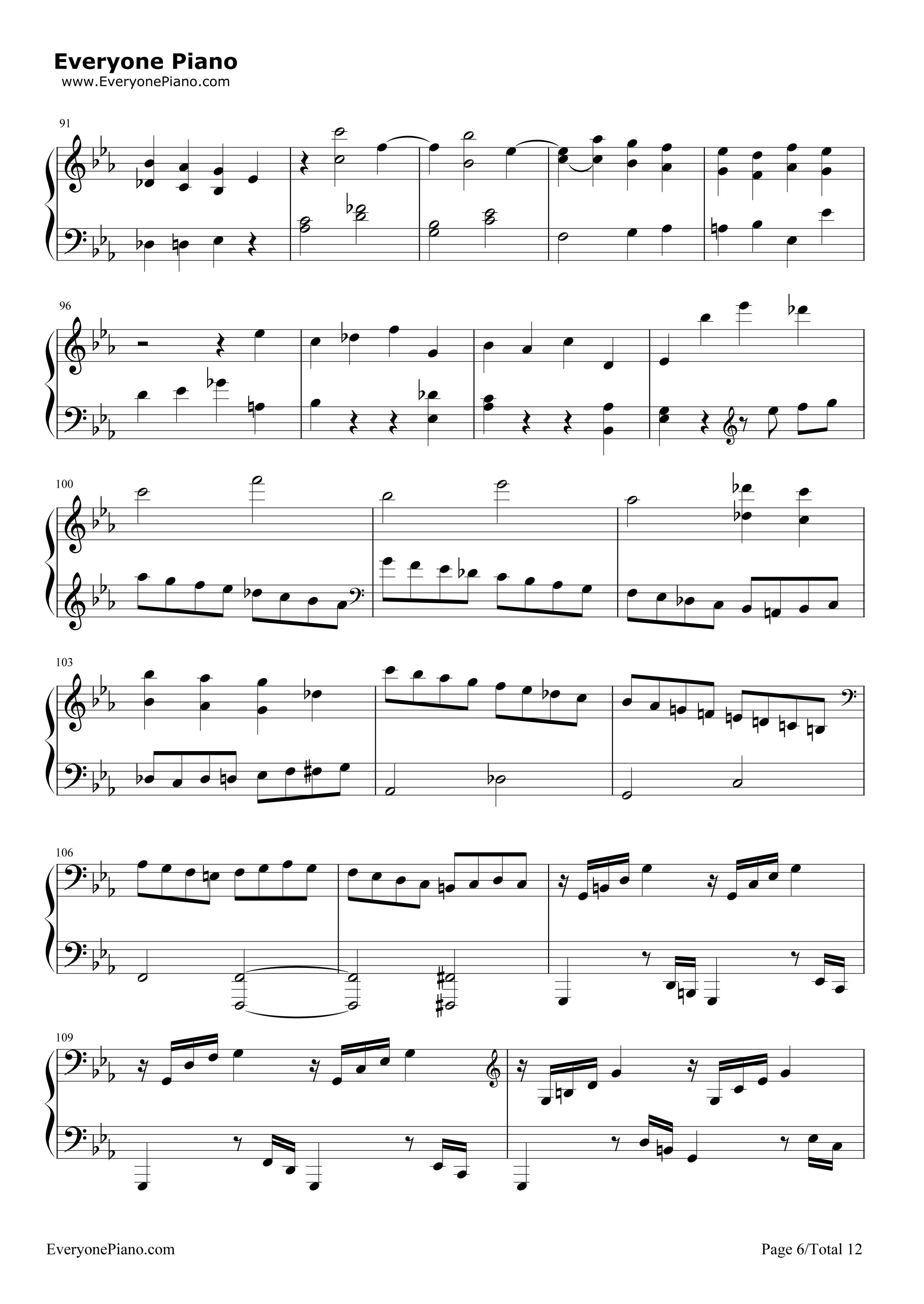 钢琴曲谱 经典 悲怆-贝多芬-c小调第八钢琴奏鸣曲第三乐章 悲怆