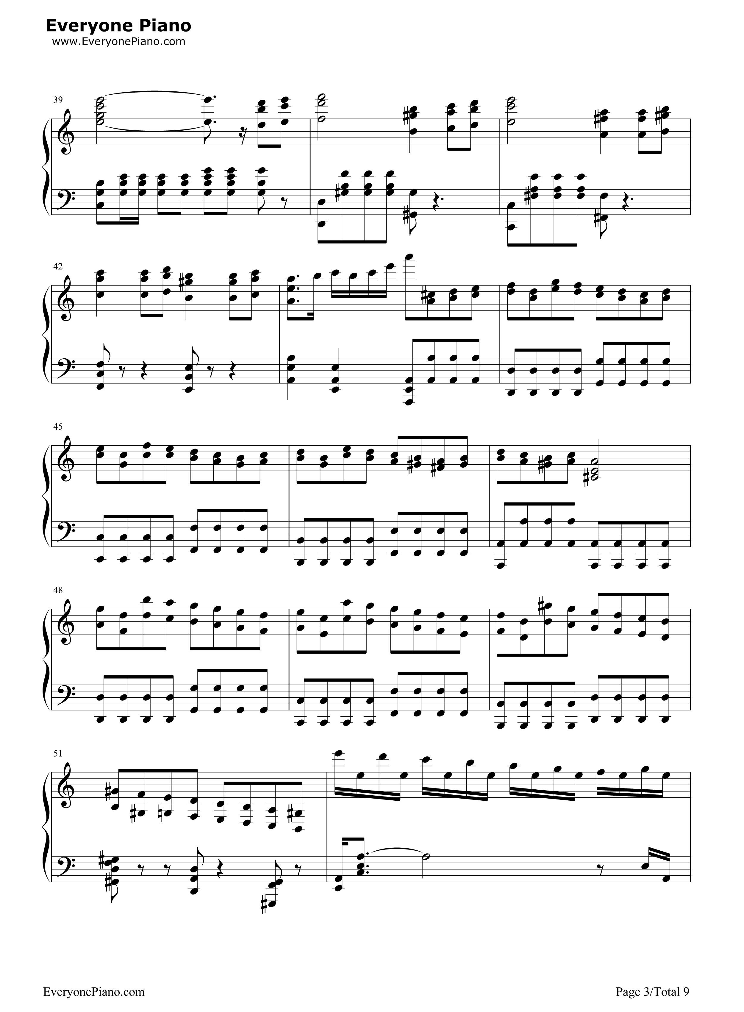 钢琴曲谱 经典 劲乐团v3-贝多芬悲怆第三乐章改编 劲乐团v3-贝多芬