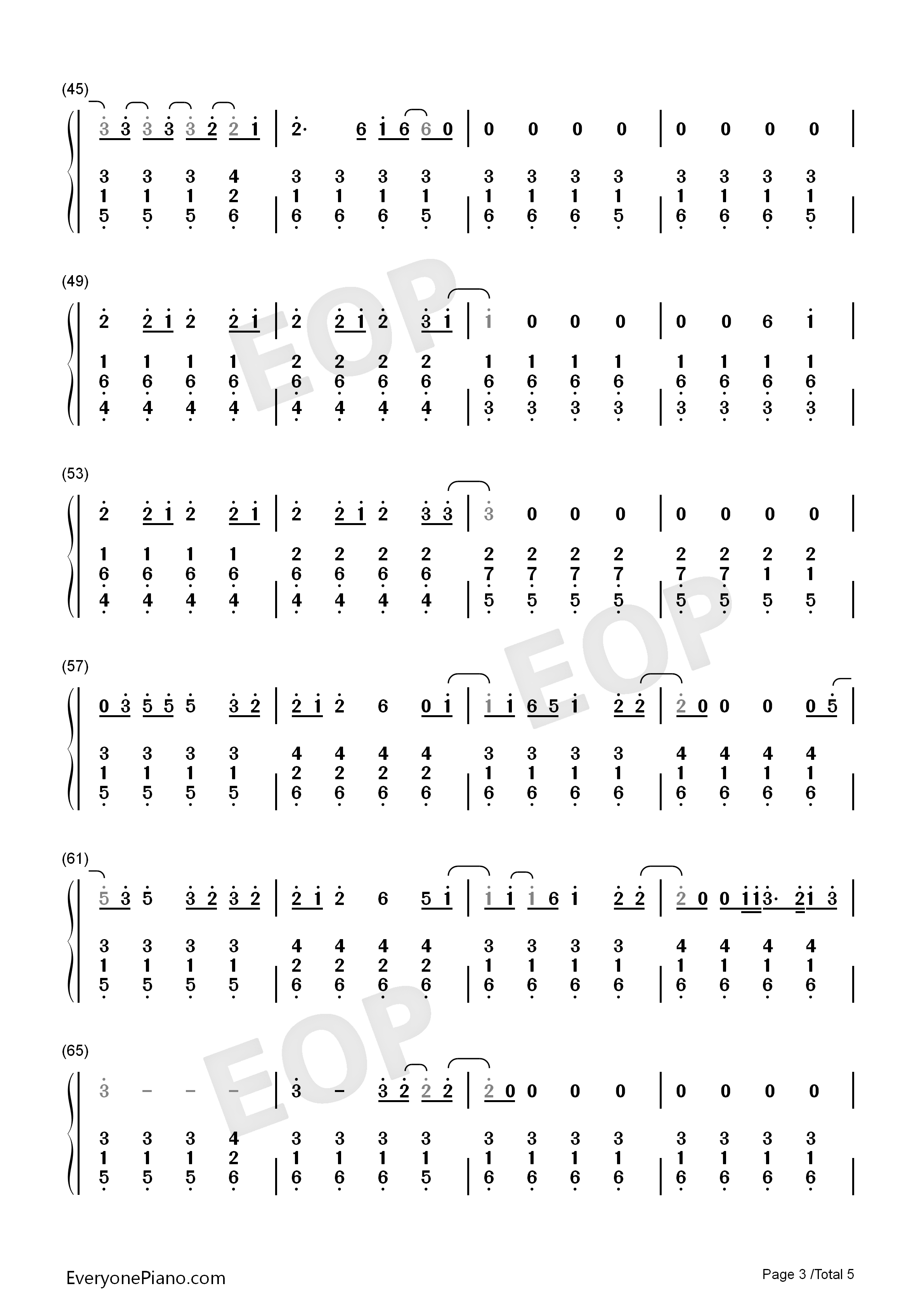 stay-rihanna与mikky ekko双手简谱预览3
