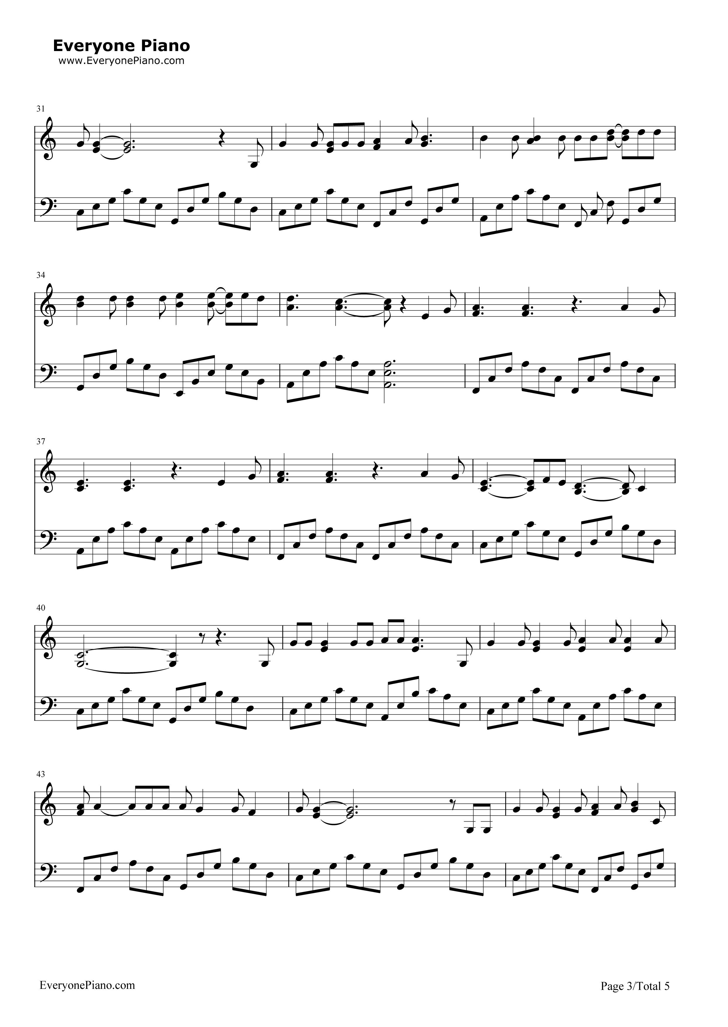 五线谱预览3 钢琴谱档 五线谱 双手简谱 数位谱 Midi PDF 免费下载