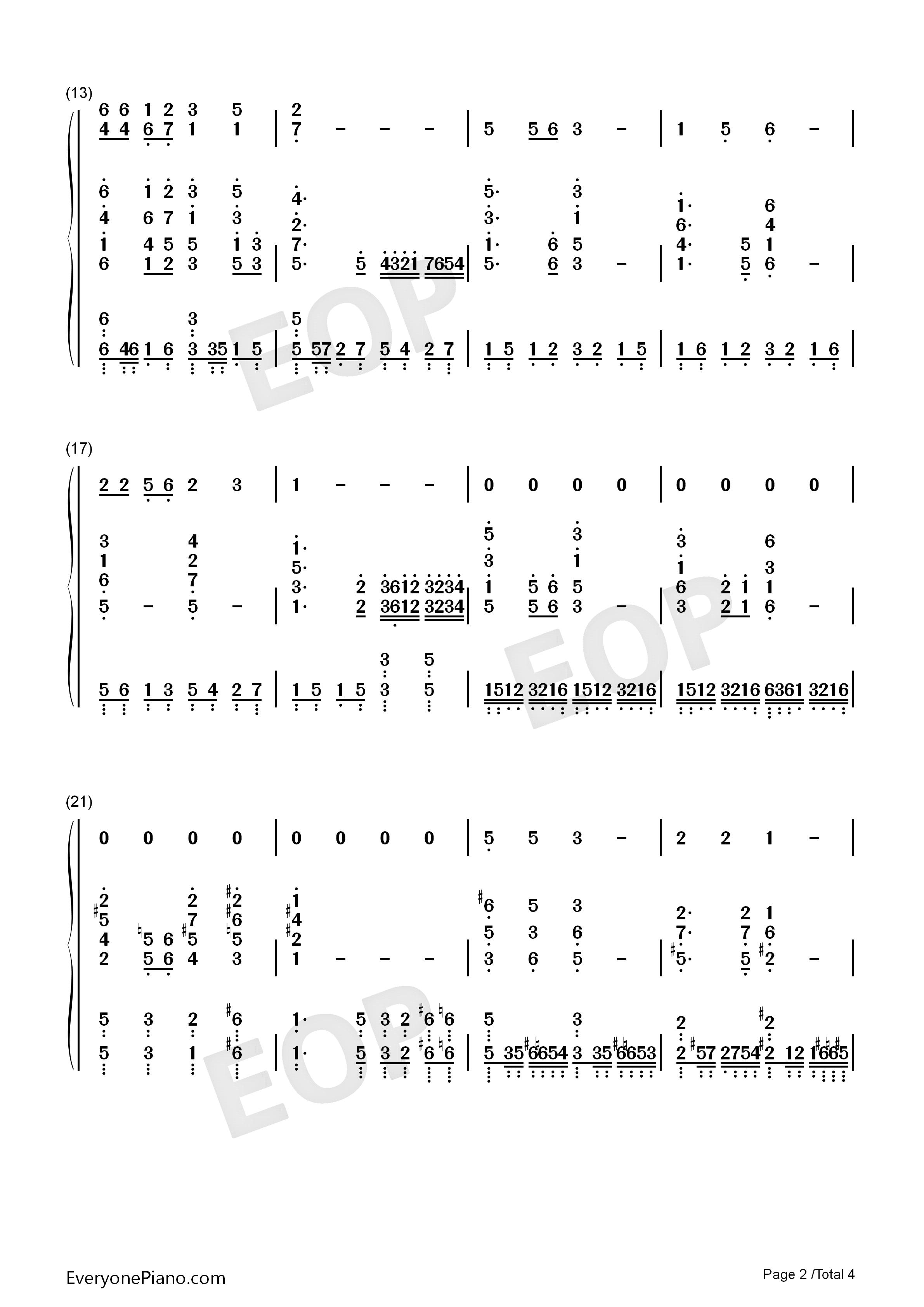 卢沟谣-唱响中国获奖歌曲-eop教学曲双手简谱预览2