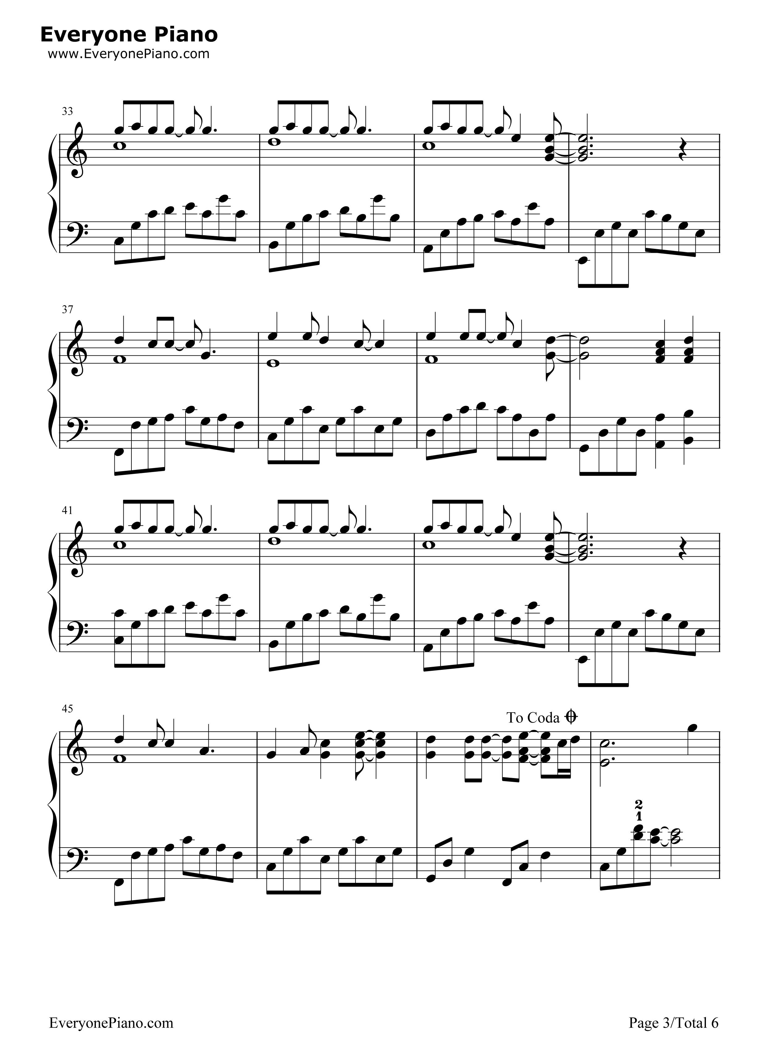 钢琴曲谱 流行 那些花儿-朴树 那些花儿-朴树五线谱预览3  }  仅供