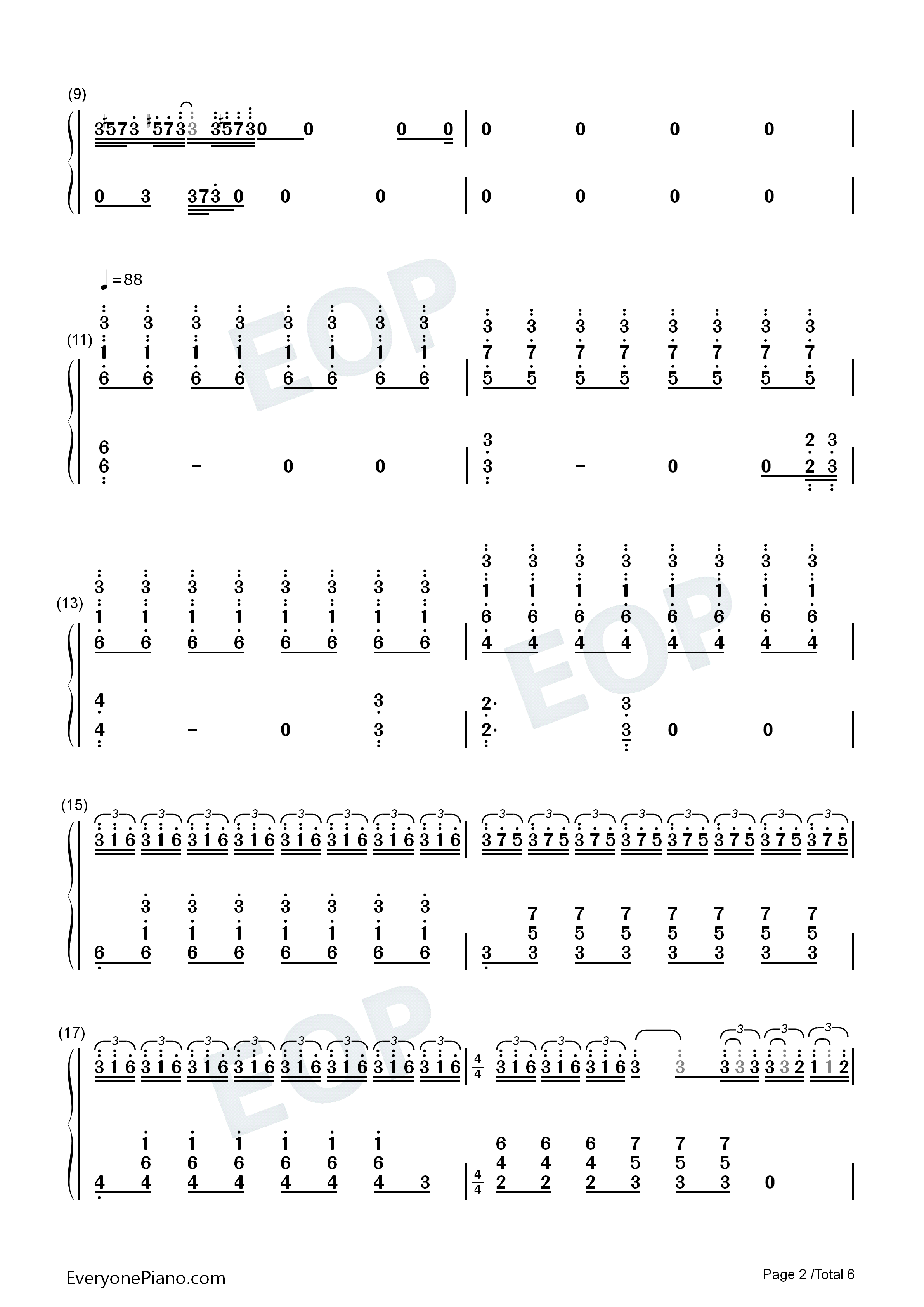 trap-junior-m成员刘宪华双手简谱预览2-钢琴谱