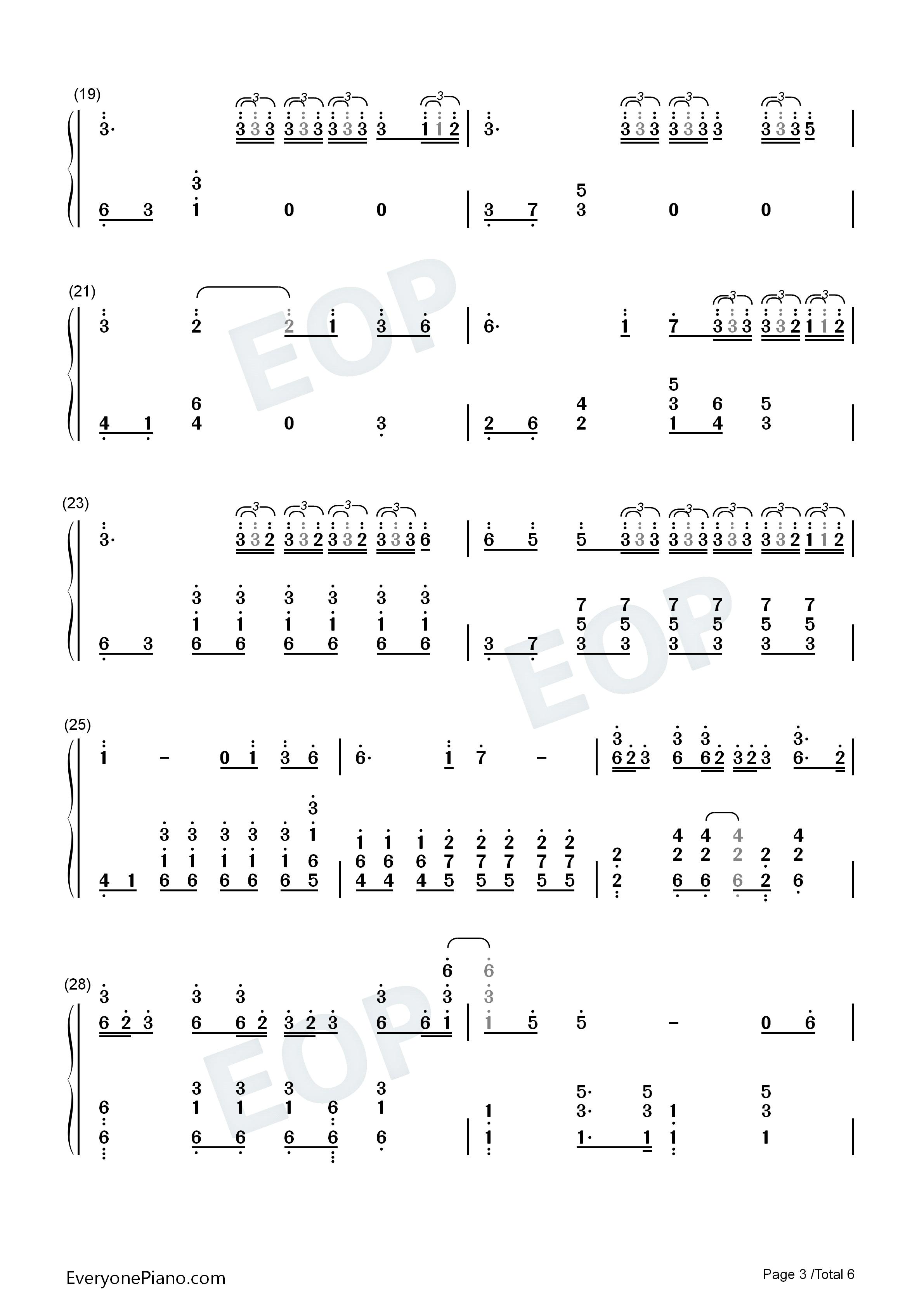 trap-junior-m成员刘宪华双手简谱预览3-钢琴谱