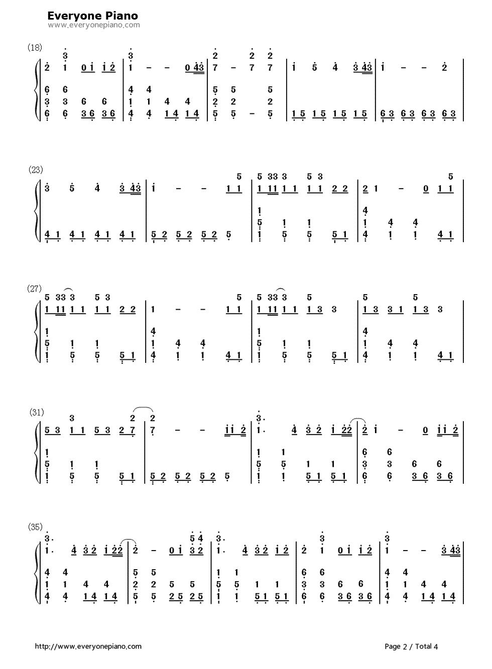 iridescent-变形金刚3主题曲-eop教学曲双手简谱预览2