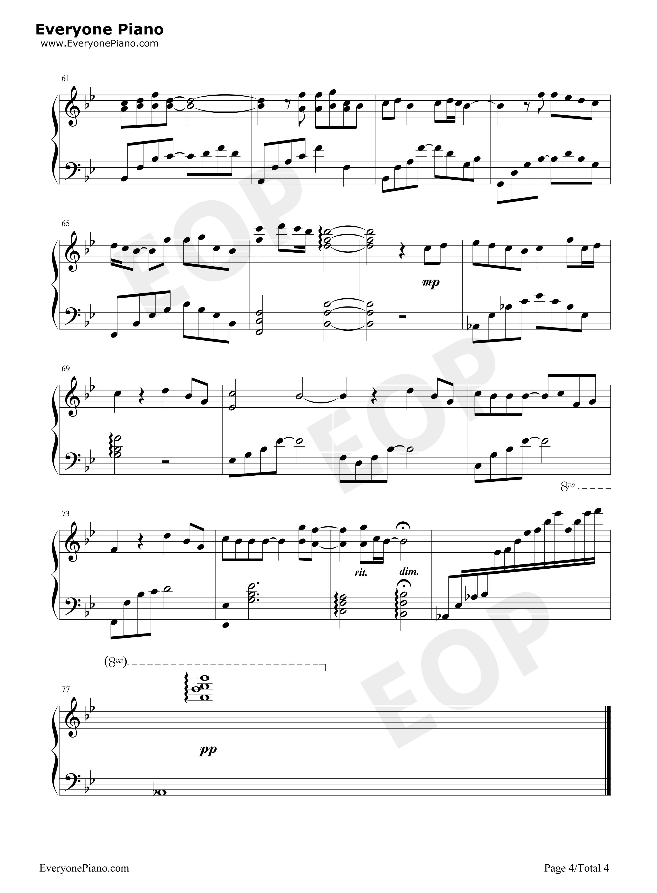 比我幸福-玉观音插曲-陈晓东五线谱预览4