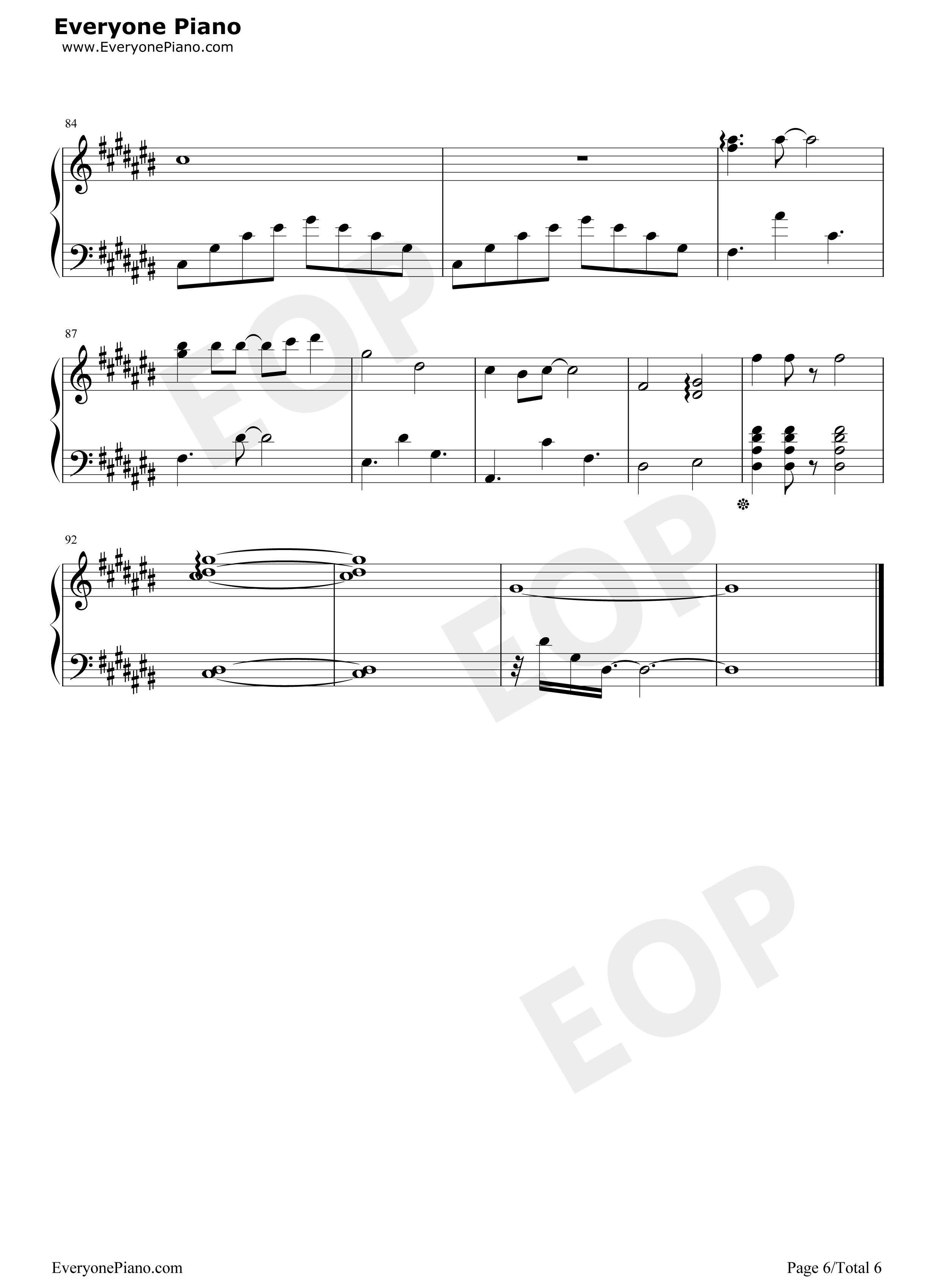 钢琴曲谱 流行 幻听-许嵩梦游计-eop教学曲 幻听-许嵩梦游计-eop教学