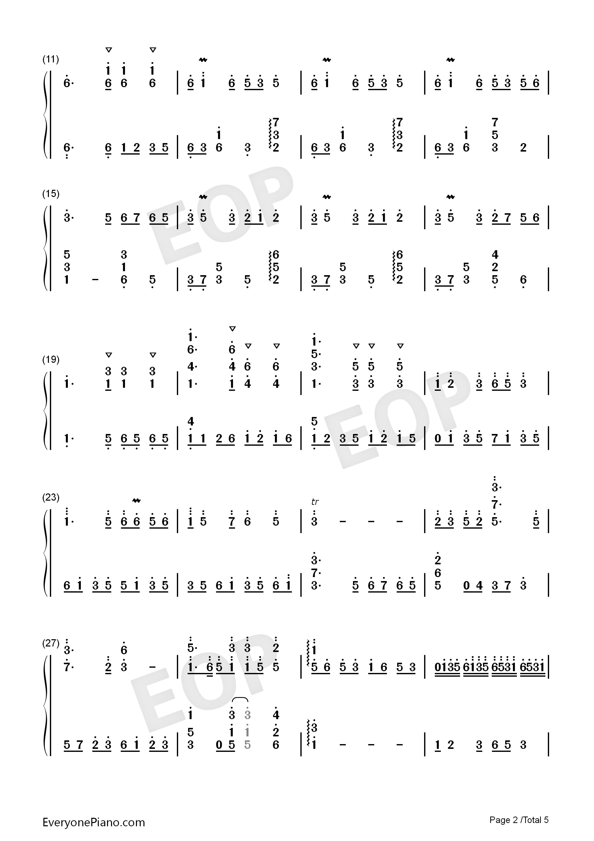 钢琴曲谱 民乐 彩云追月-经典民乐-eop教学曲 彩云追月-经典民乐-eop