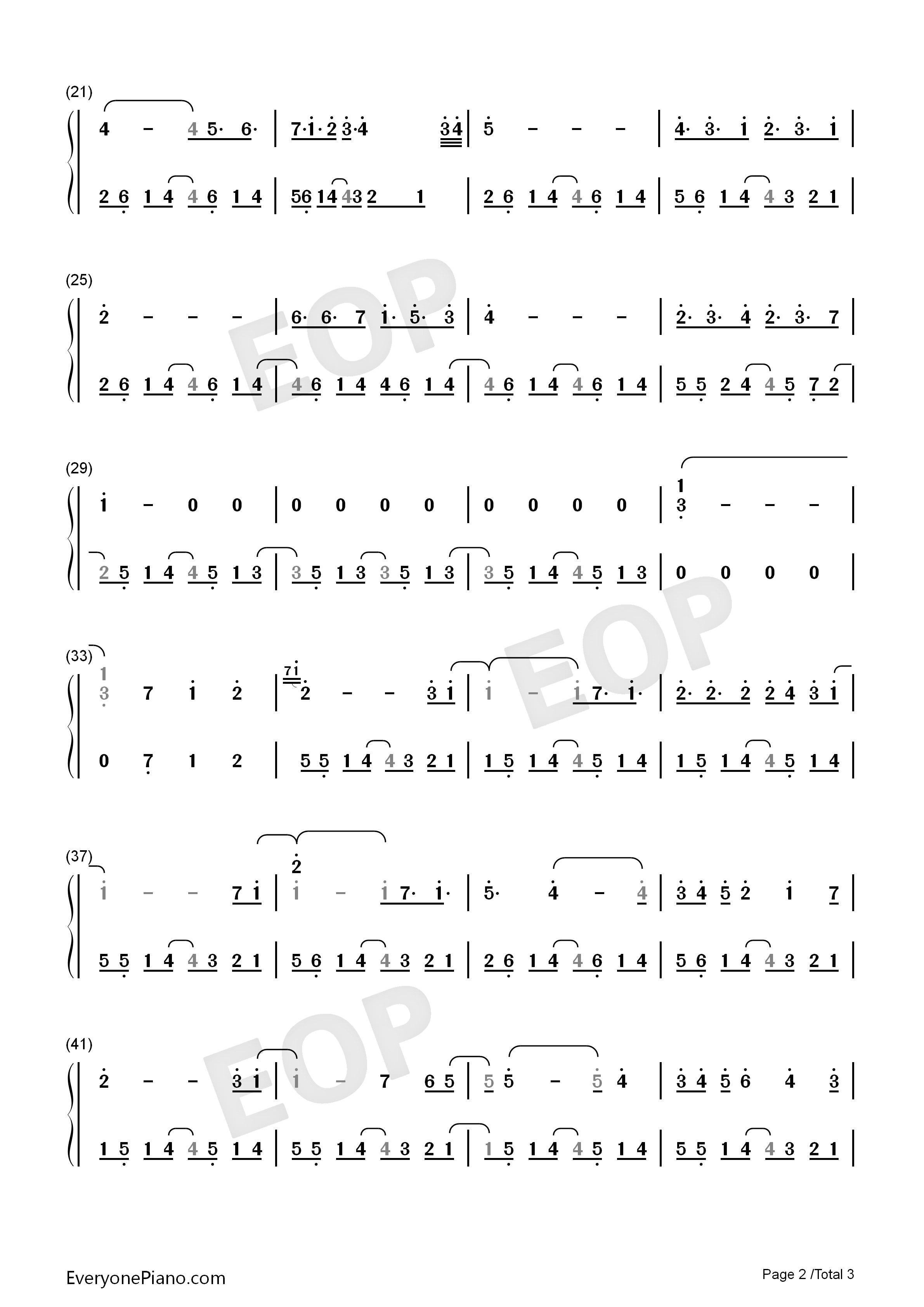天空之城-冒险岛maple story背景音乐双手简谱预览2