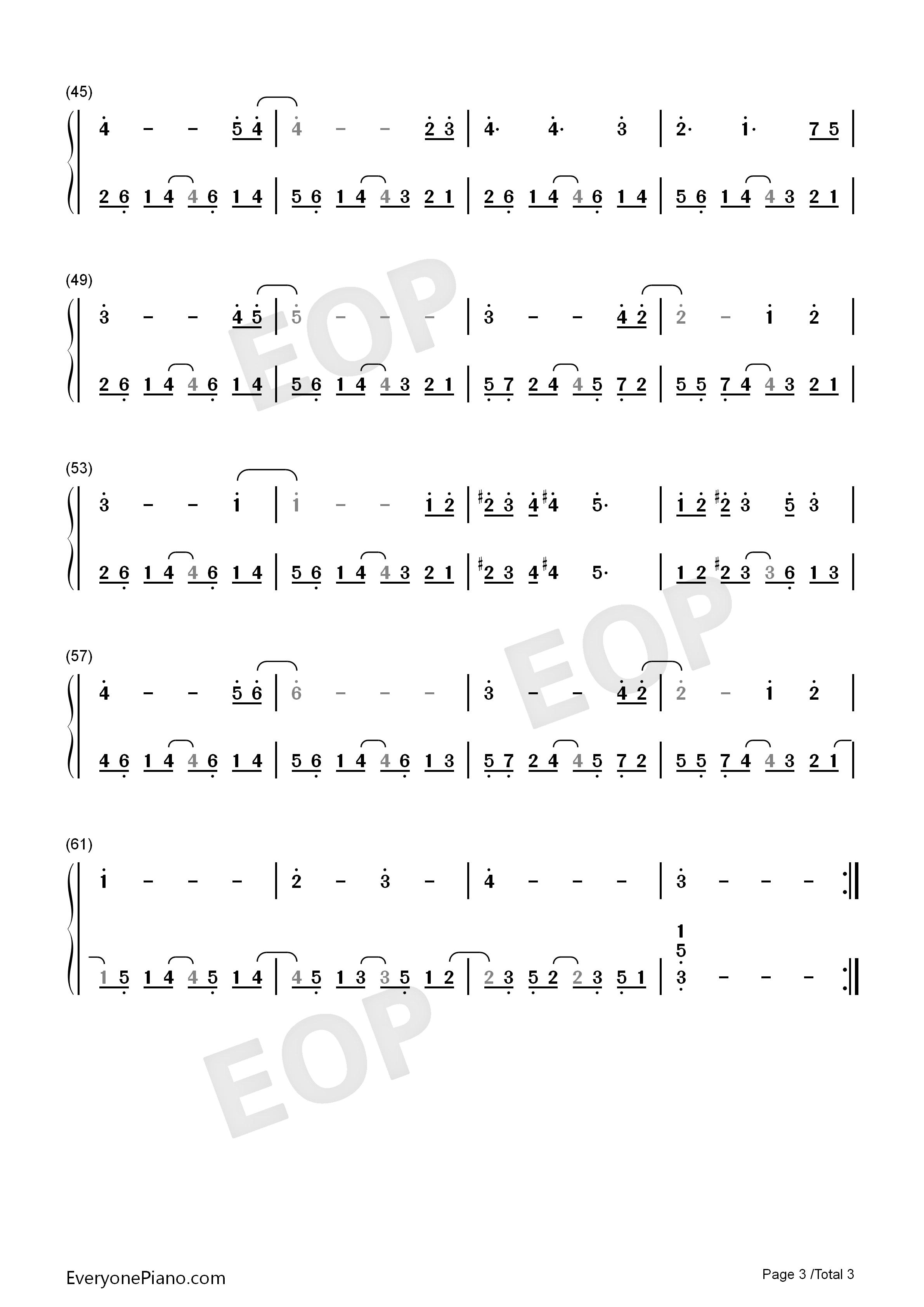 天空之城-冒险岛maple story背景音乐双手简谱预览3