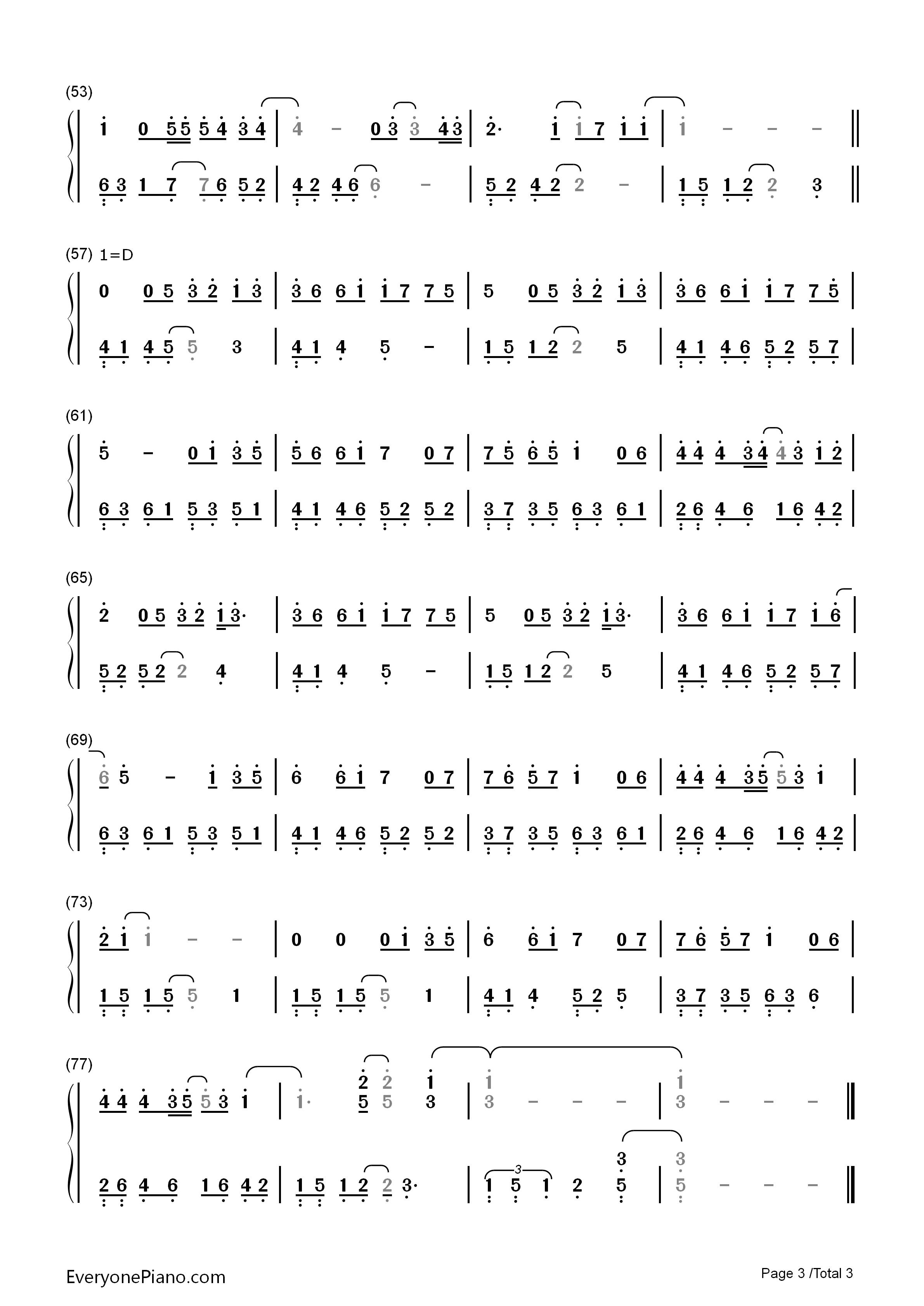 裂缝中的阳光-林俊杰双手简谱预览