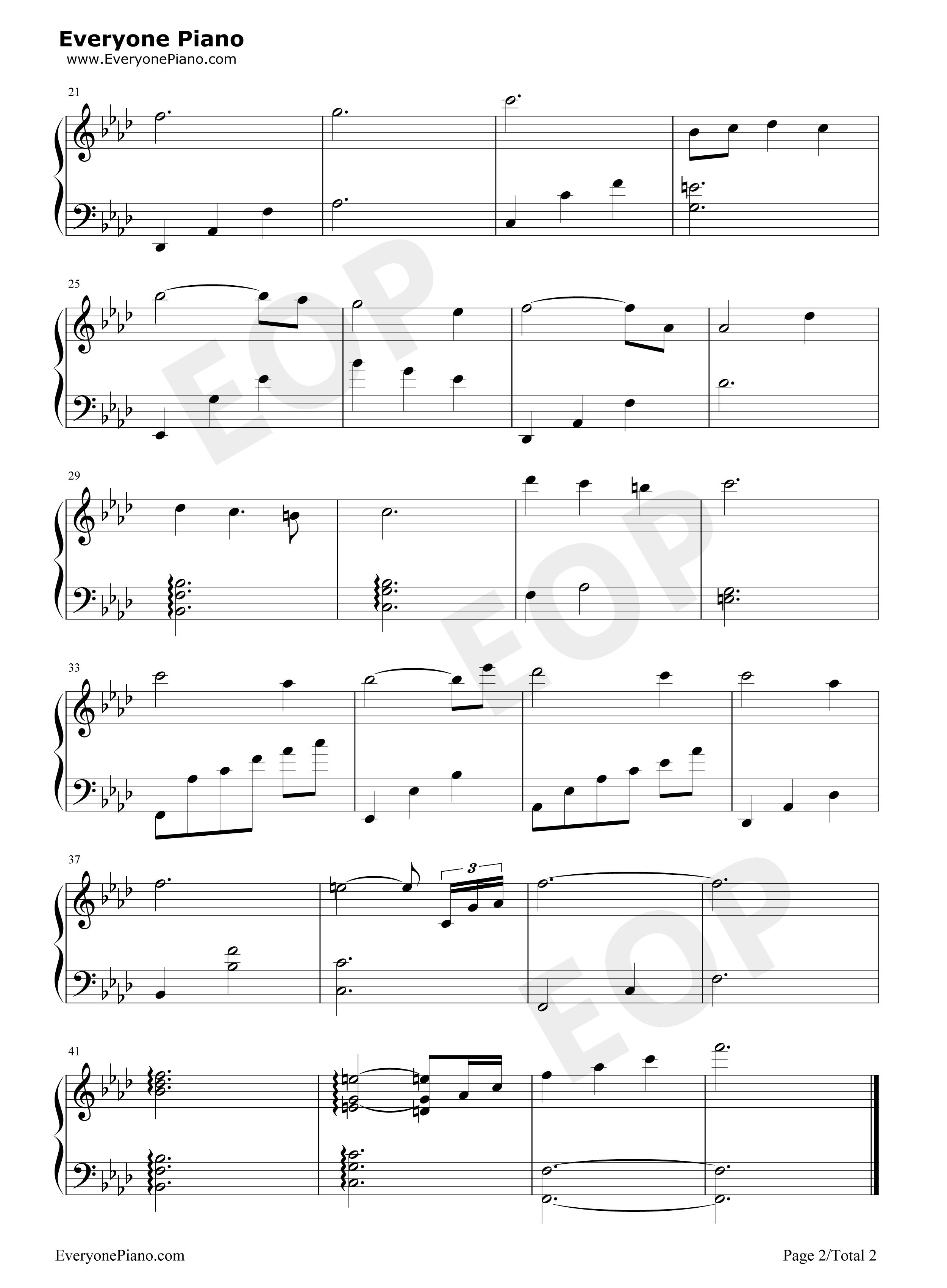 钢琴曲谱 动漫 哀的主题曲-哀のテーマ-柯南《通往天国的倒计时》插曲
