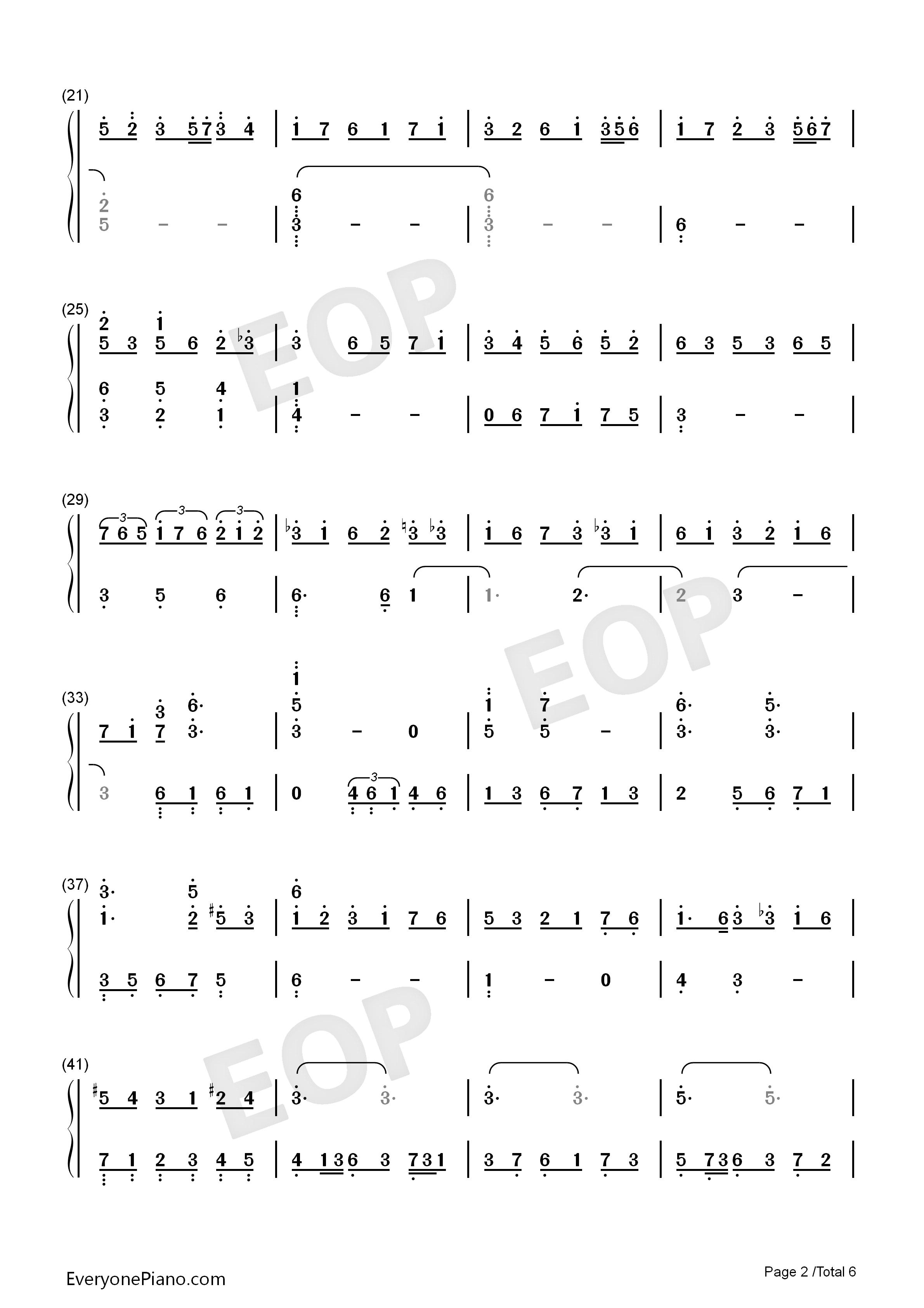 rain-《言叶之庭》ost-eop教学曲双手简谱2