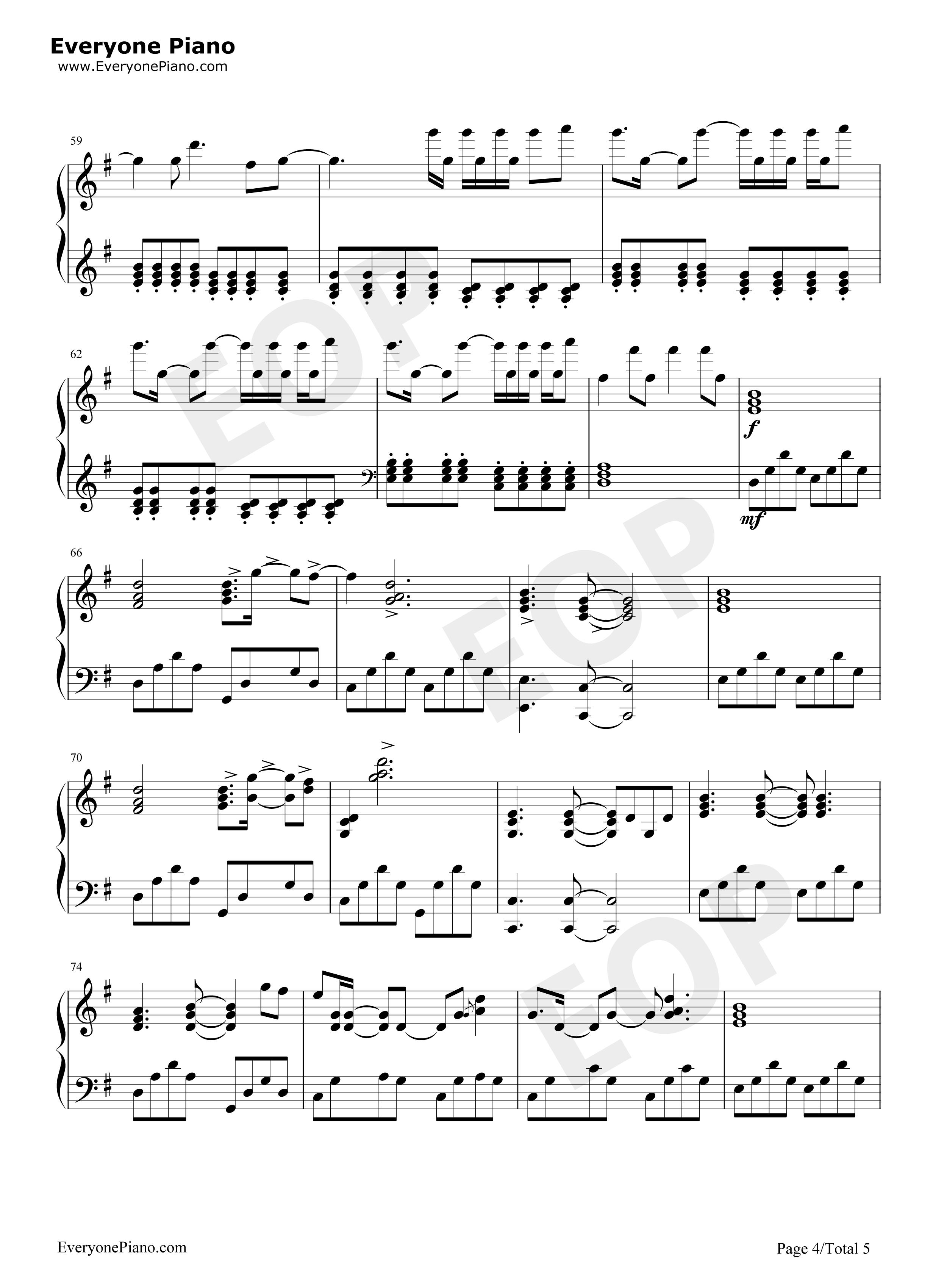 钢琴曲轻音乐谱-A Little Story - Valentin五线谱预览   ( 共4张 )   可使用右键另存为下