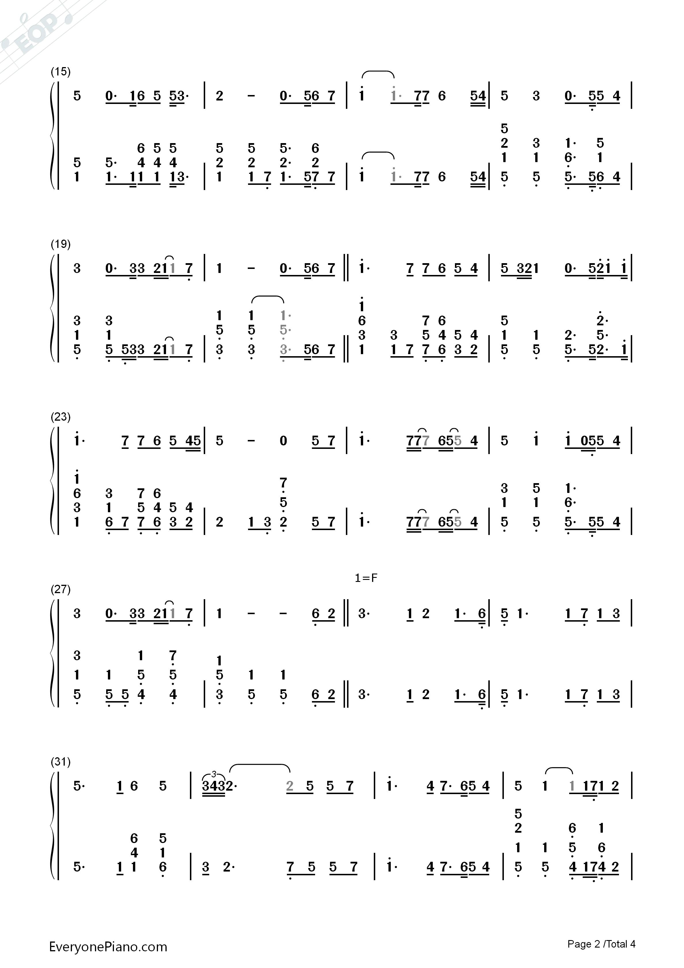 youraisemeup合唱正谱