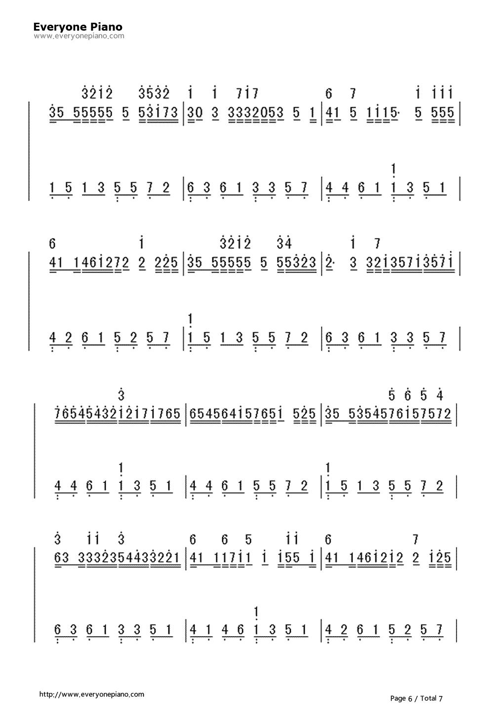 c大调卡农-带力度版双手简谱预览6-钢琴谱