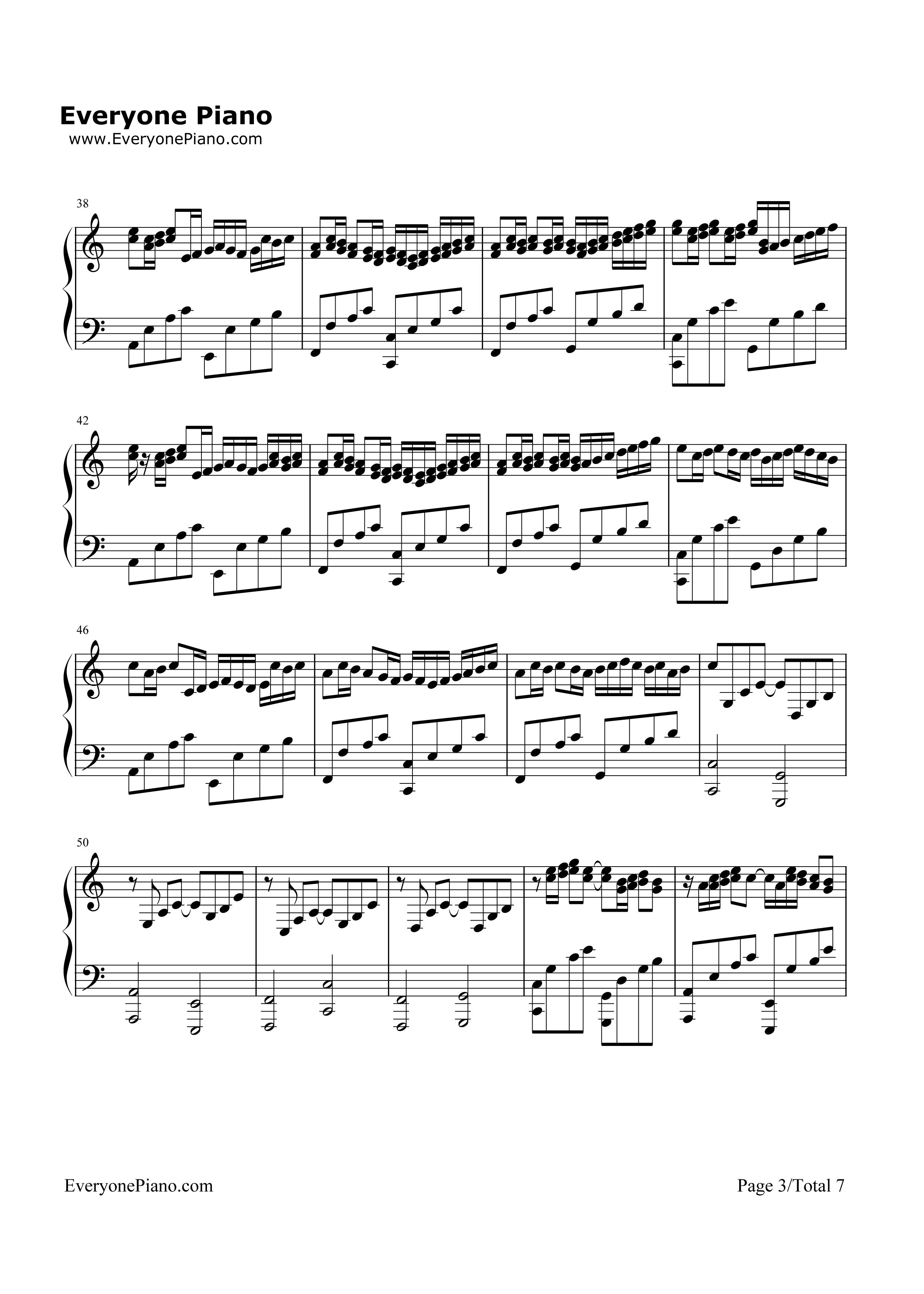 欢乐颂曲谱c调-口琴谱 卡农 c大调