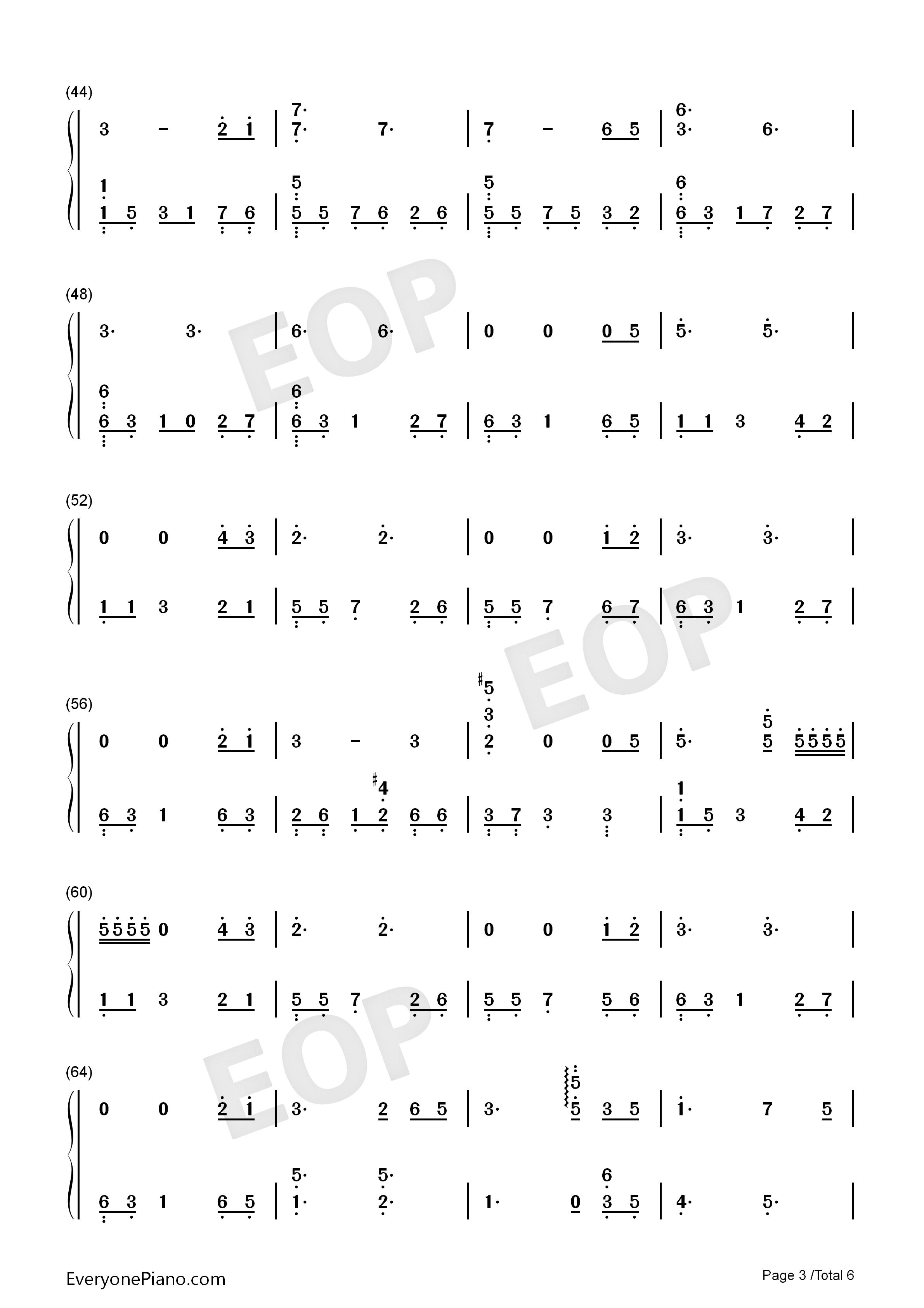 钢琴曲谱 轻音乐 月光边境-林海 月光边境-林海双手简谱预览3  }