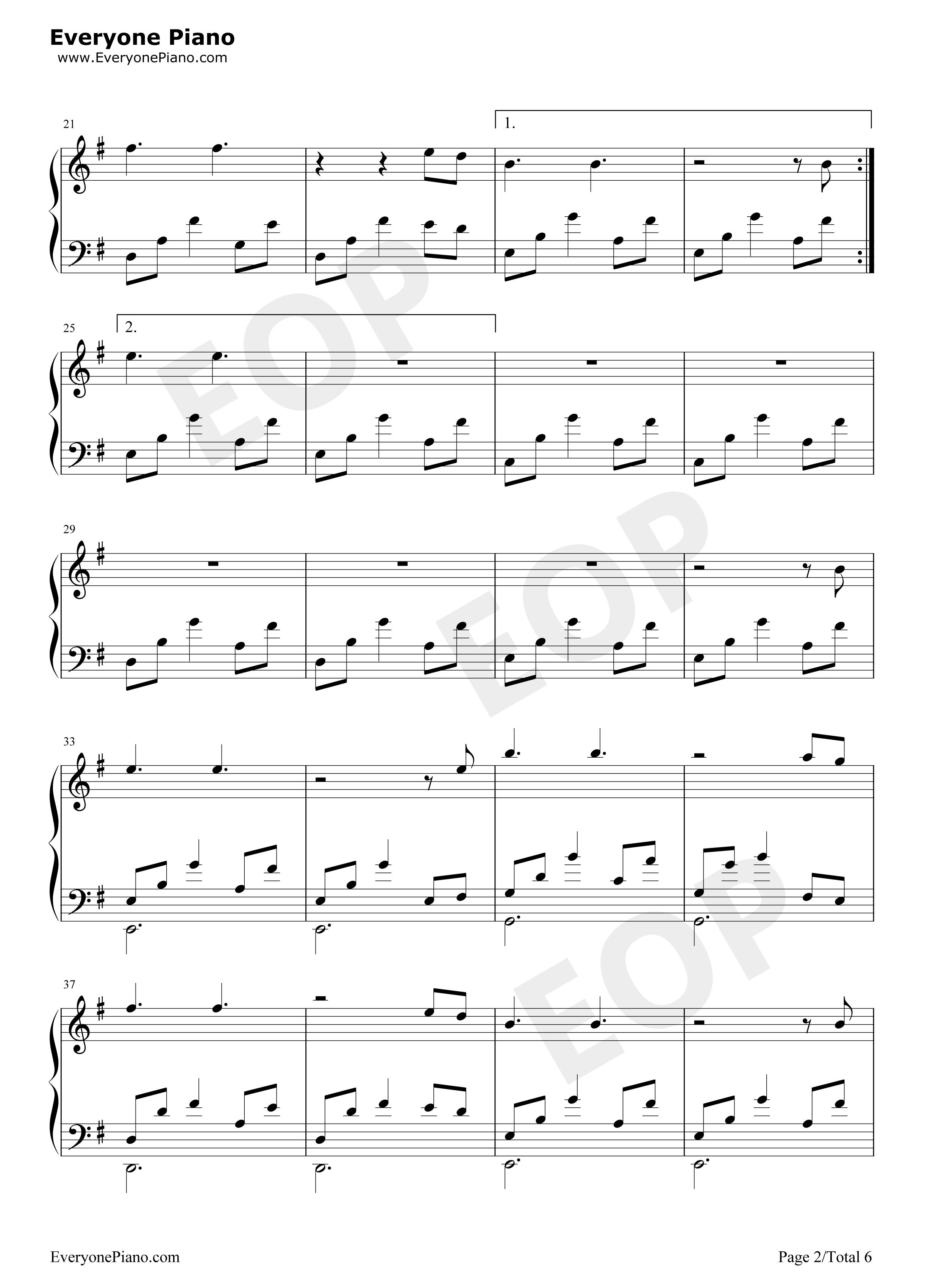 钢琴曲谱 轻音乐 月光边境-林海 月光边境-林海五线谱预览2  }  仅供