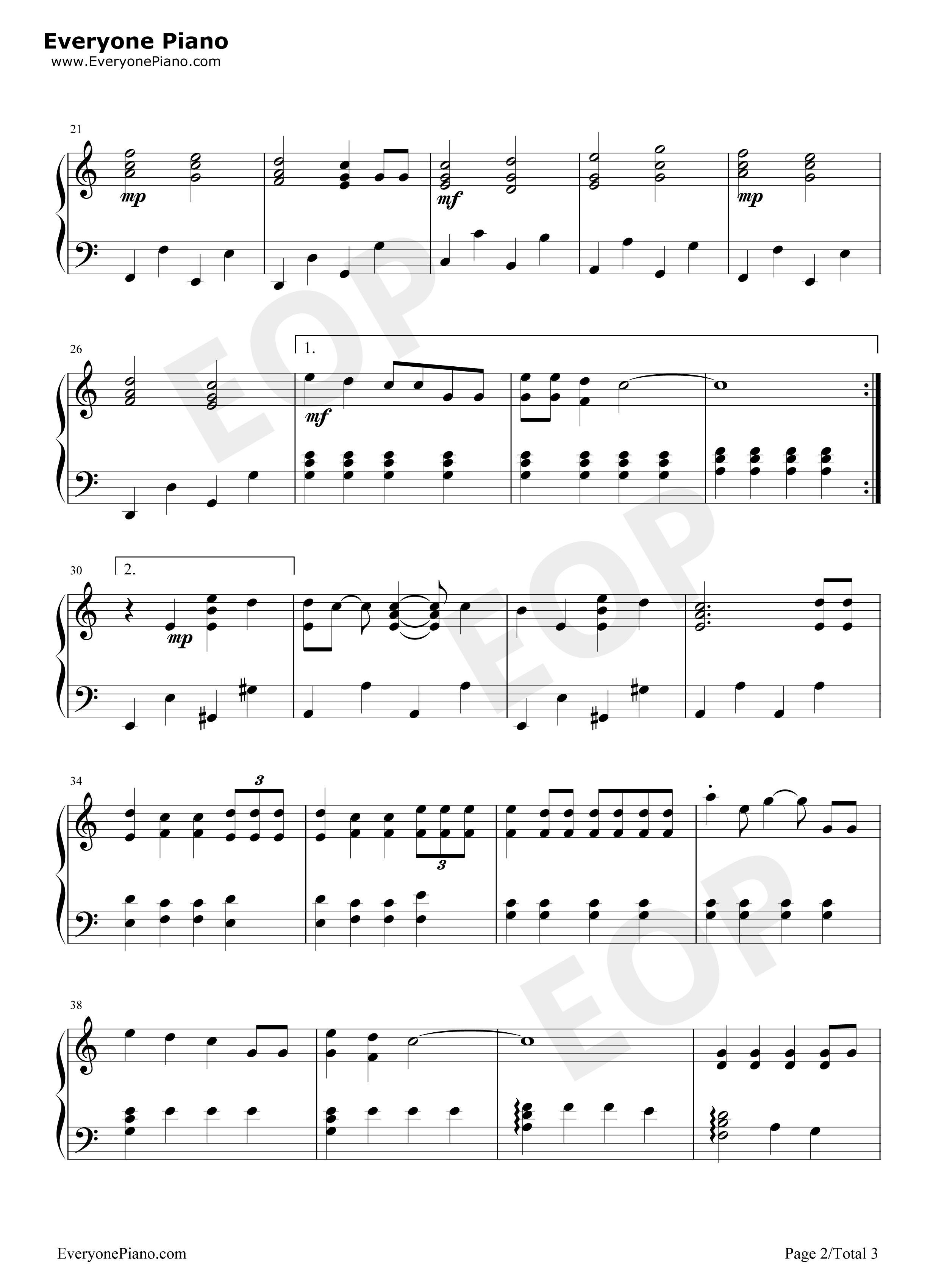 海绵宝宝钢琴简谱数学