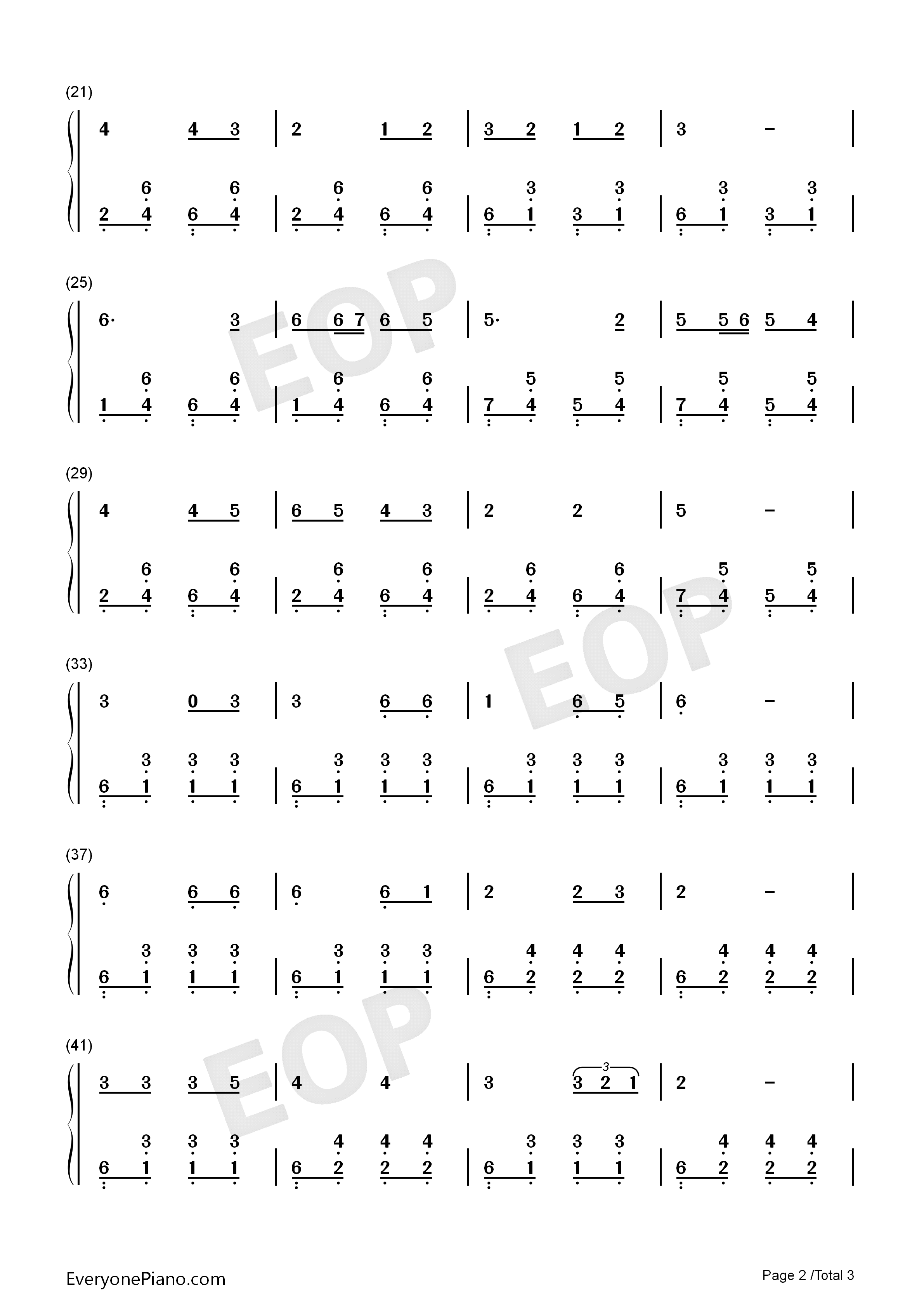 乡间的小路-齐豫双手简谱预览2