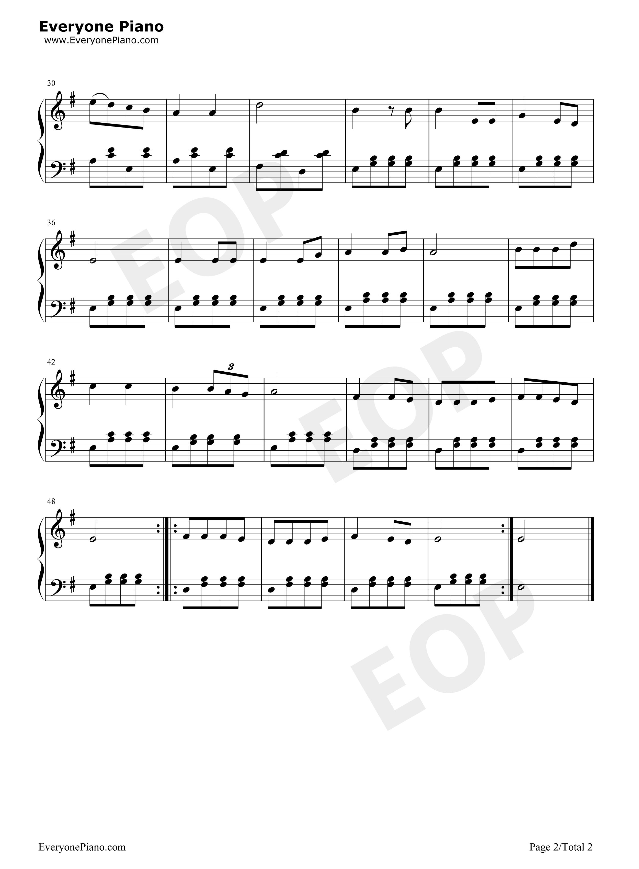乡间的小路-齐豫五线谱预览2-钢琴谱