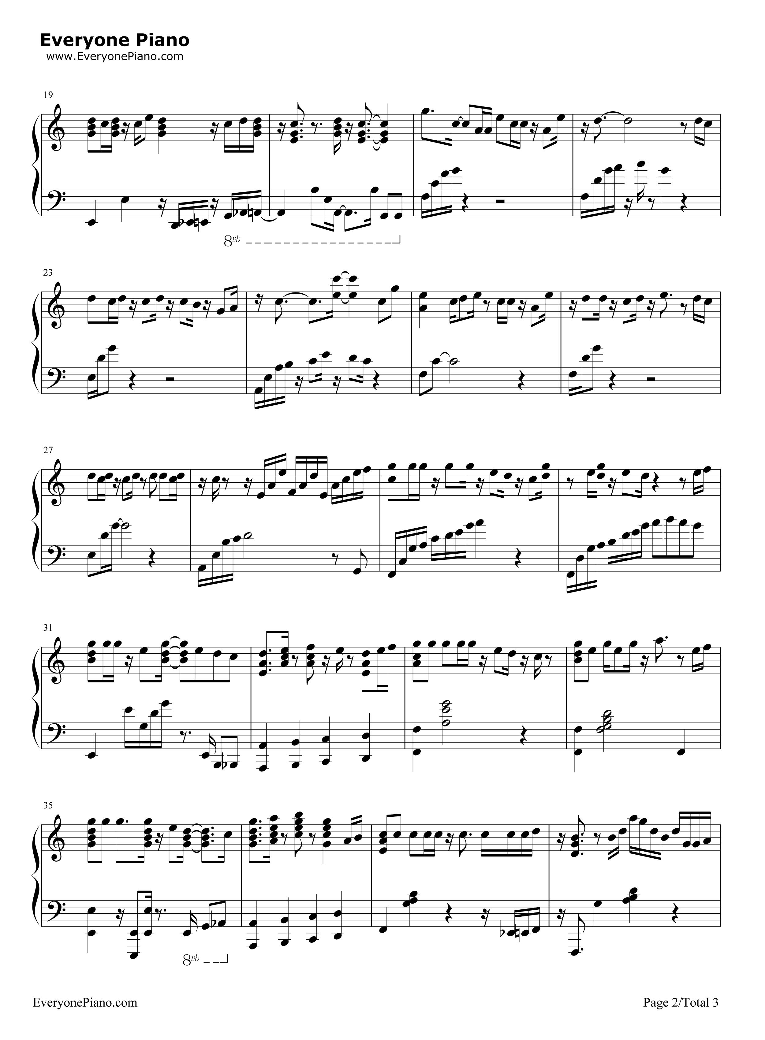 only one - boa五线谱预览2-钢琴谱