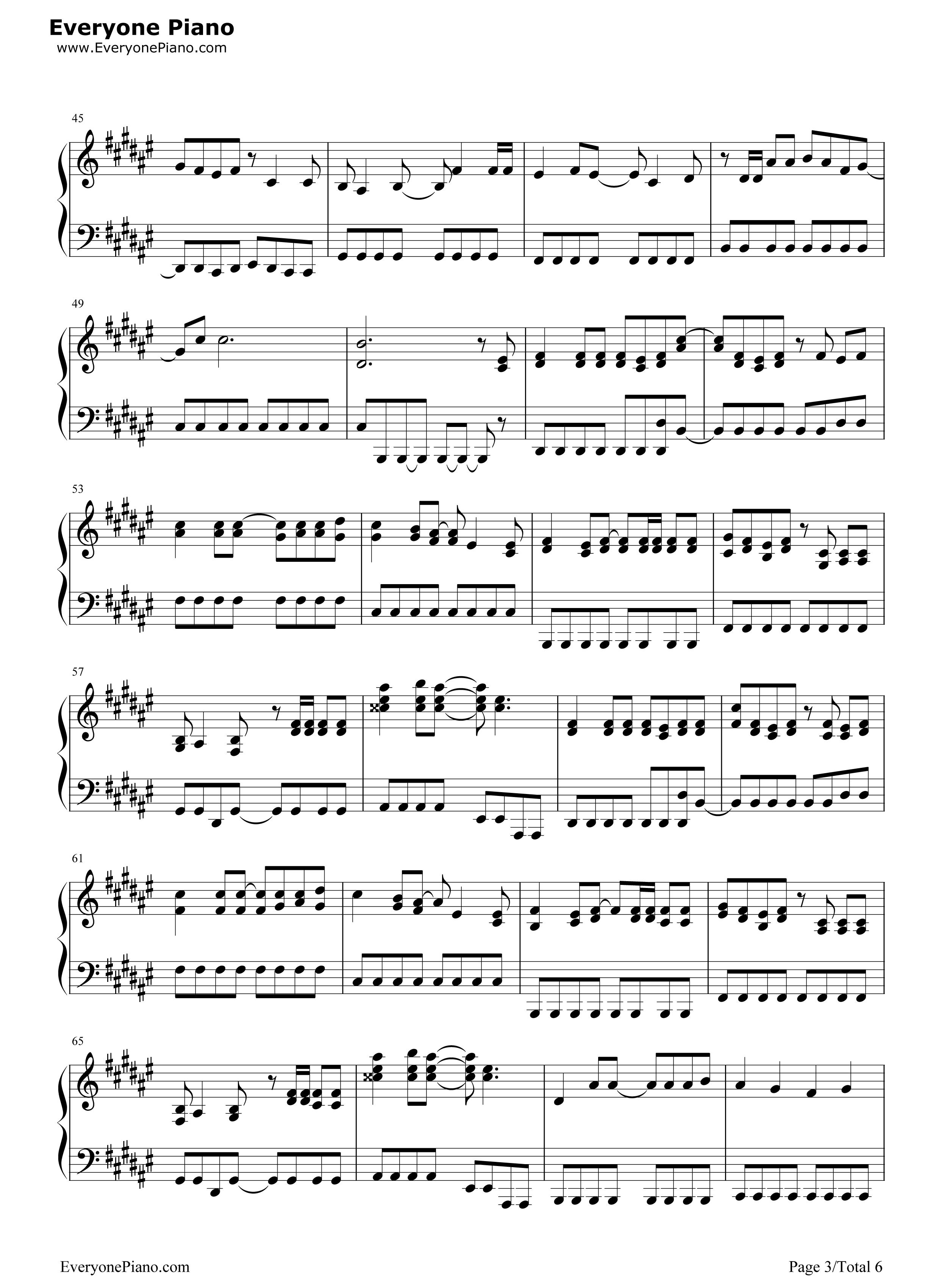 罗密欧与灰姑娘-镜音双子五线谱预览3