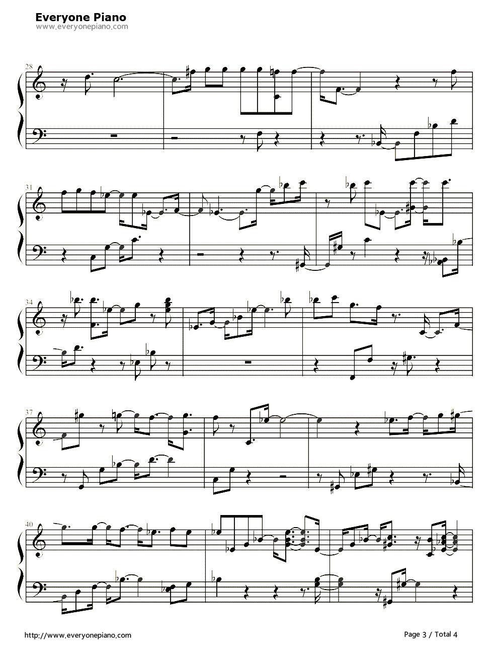 钢琴曲谱 组合乐队 海阔天空 和 我相信 的乐队总谱