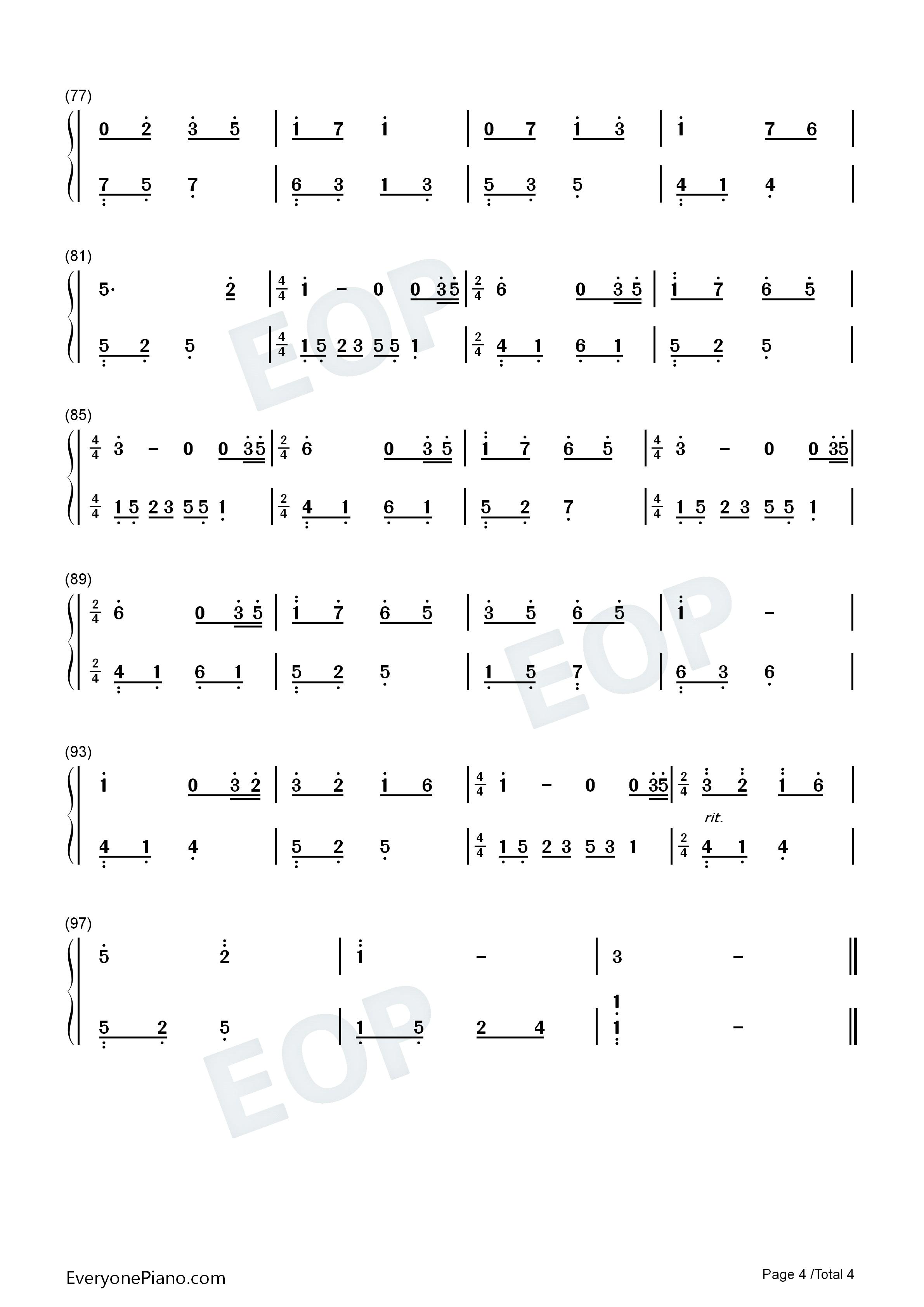 钢琴曲谱 轻音乐 夜的钢琴曲 15 夜的钢琴曲 15双手简谱预览4  }
