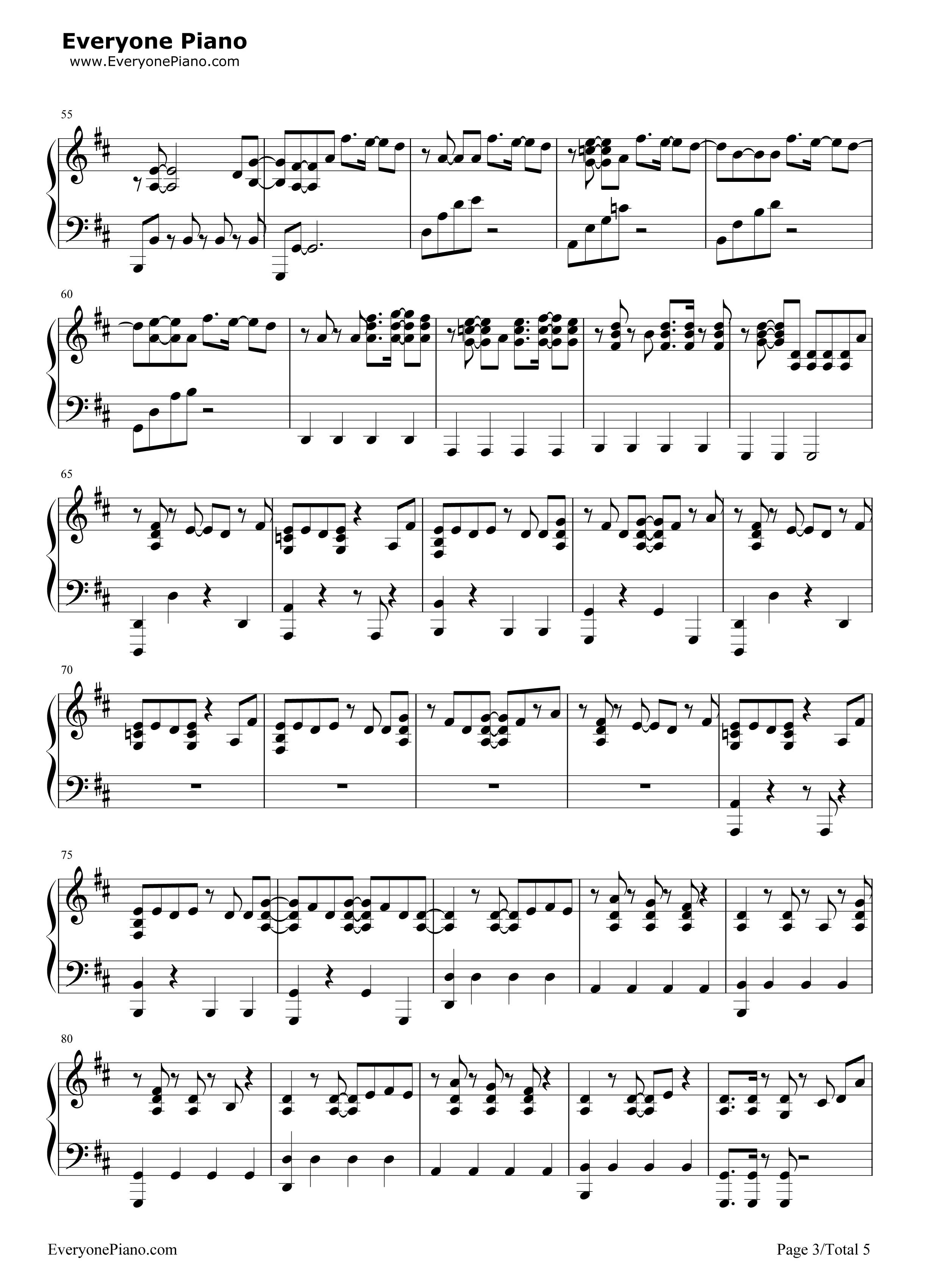 bigbang五线谱预览3-钢琴谱
