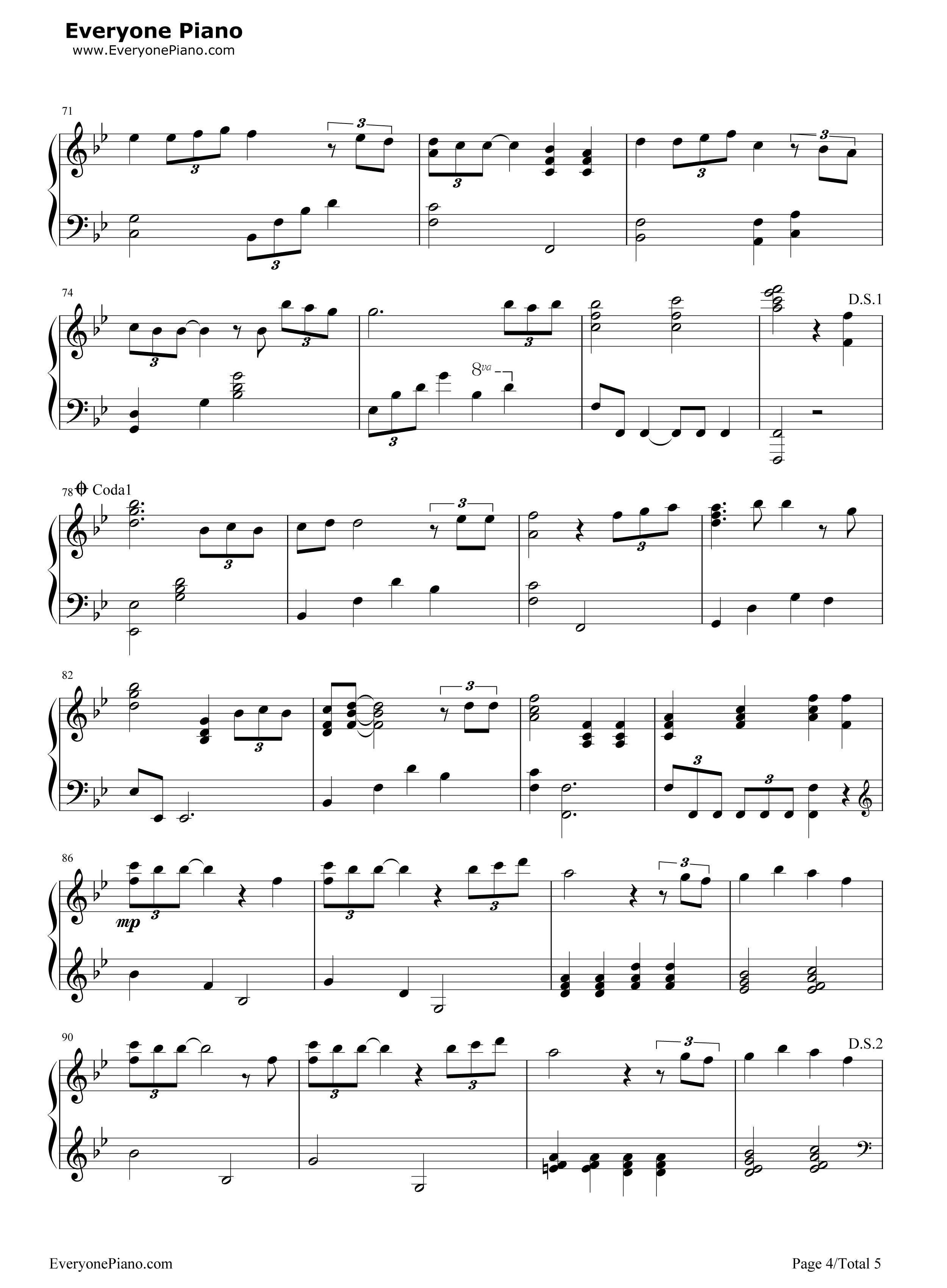 钢琴曲谱 流行 forever love-剧场版《x战记》主题曲 forever love
