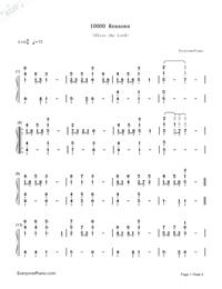 10000 Reasons (Bless the Lord)-Matt Redman-鋼琴譜檔(五線譜