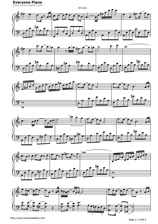 awake-《恶魔城:月轮》原声五线谱预览2