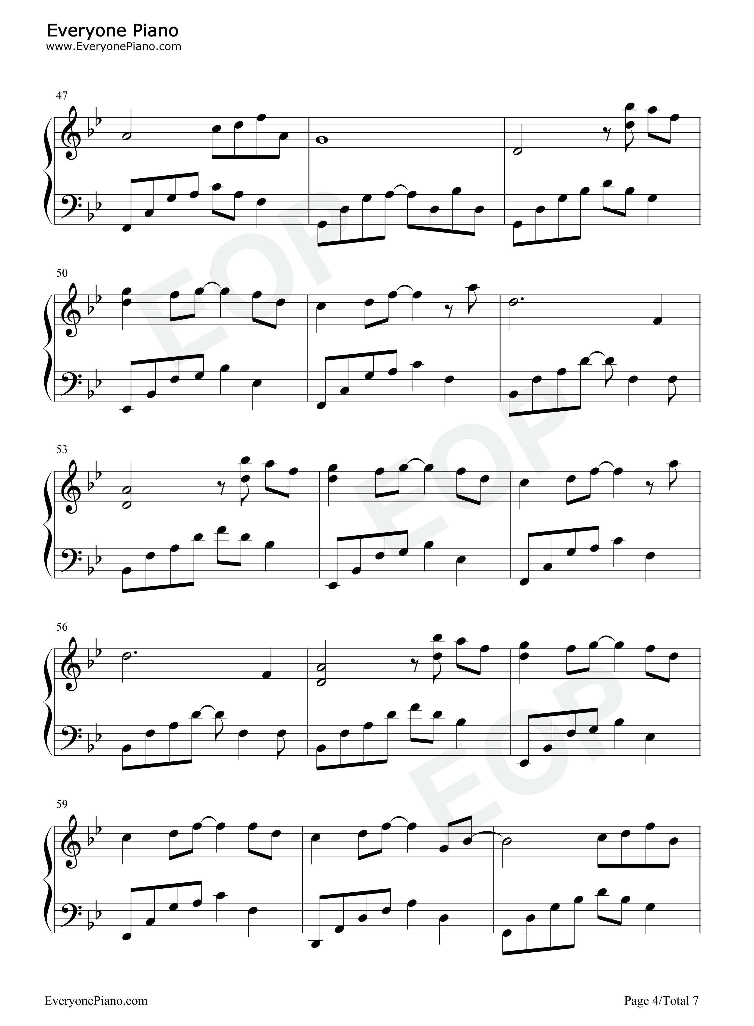 花的微笑-夜的钢琴曲 8五线谱预览4图片
