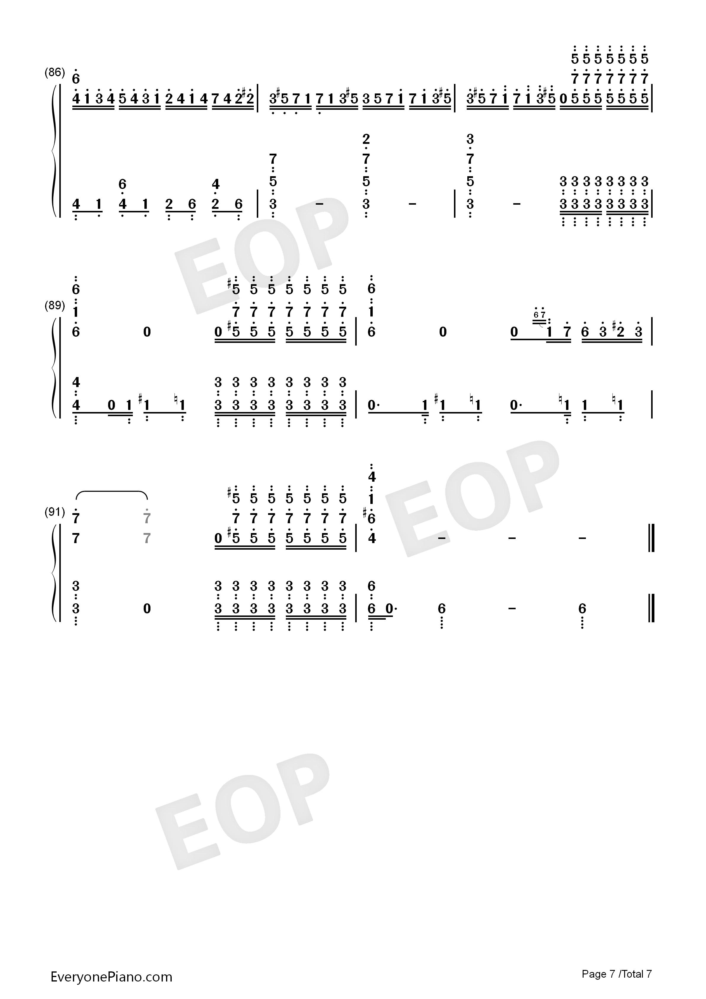 钢琴曲谱 经典 克罗地亚第二号狂想曲 克罗地亚第二号狂想曲双手简谱