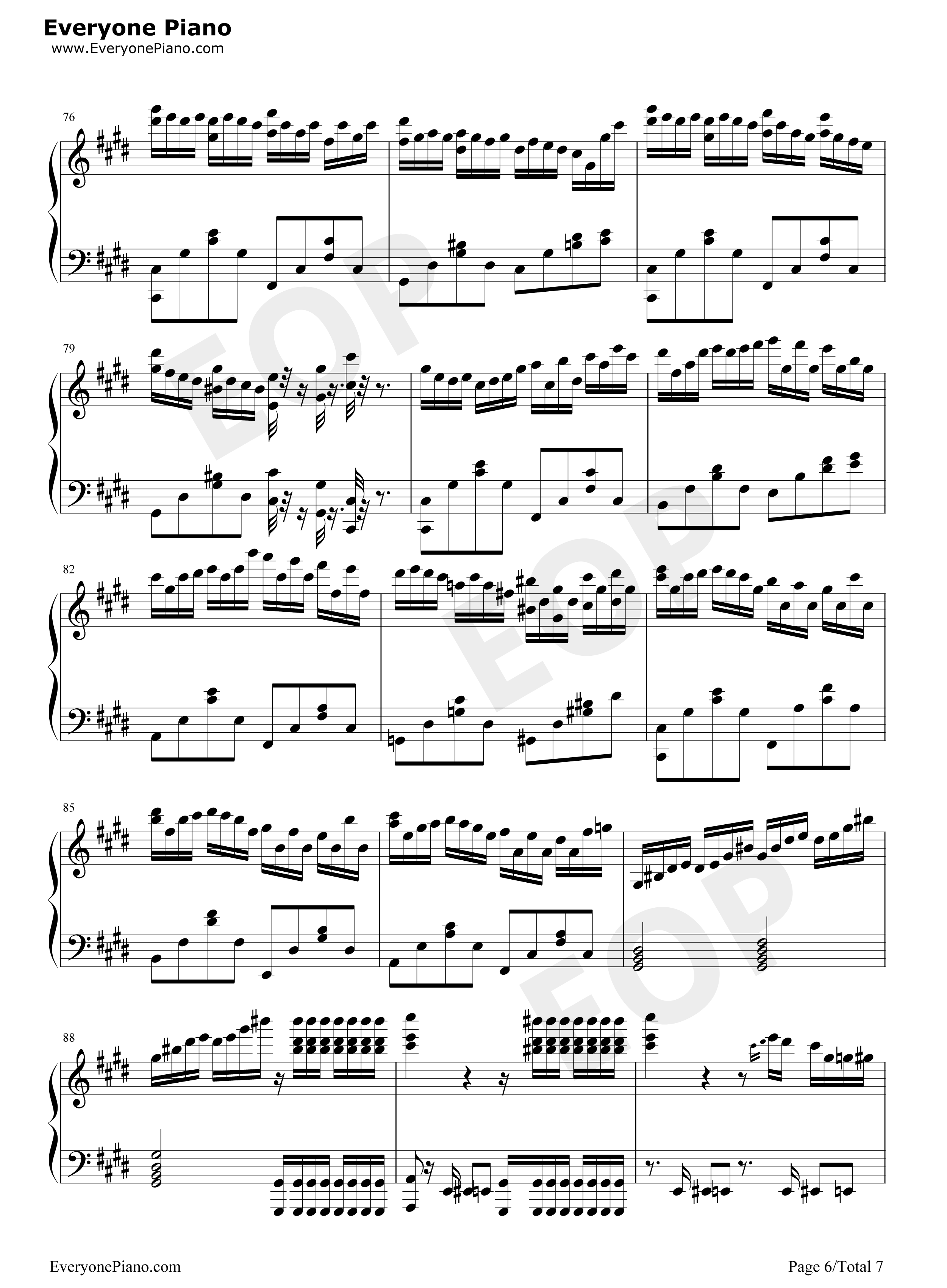 钢琴曲谱 经典 克罗地亚第二号狂想曲 克罗地亚第二号狂想曲五线谱