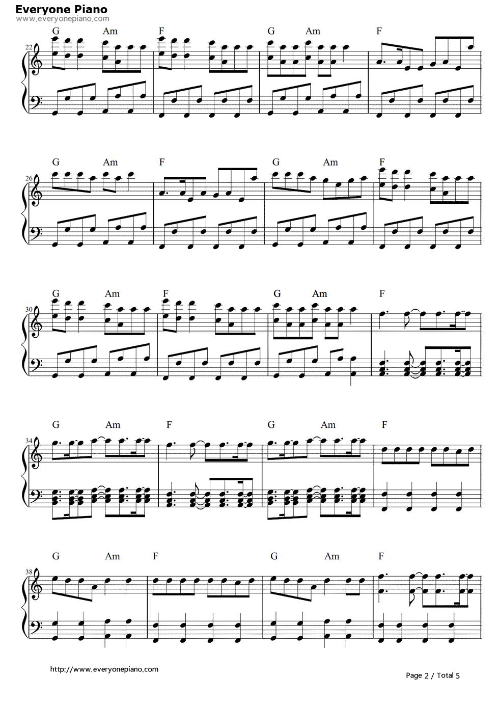 supernova-少女时代五线谱预览2-钢琴谱