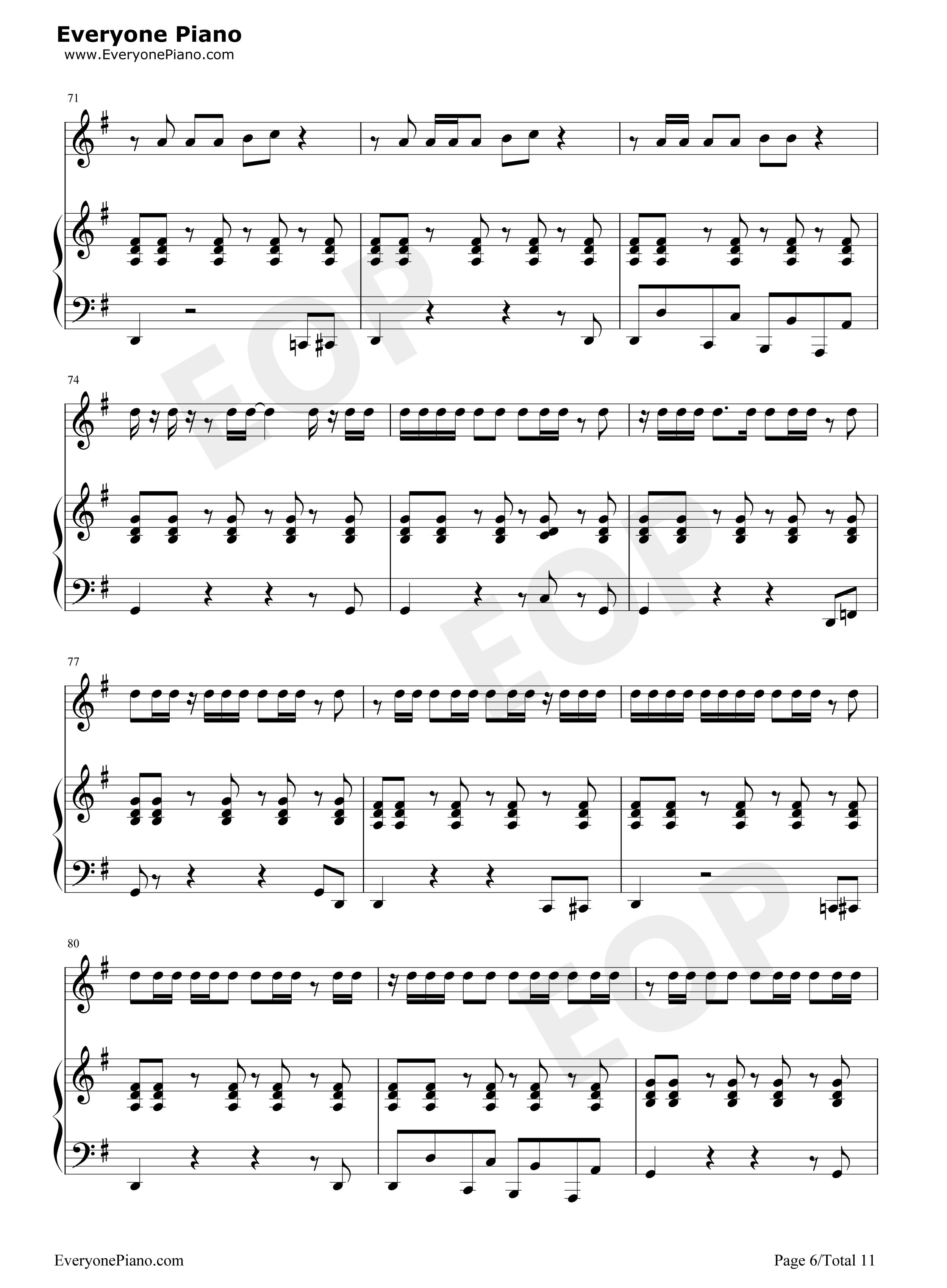 钢琴谱档 五线谱 双手简谱 数位谱 Midi PDF 免费下载