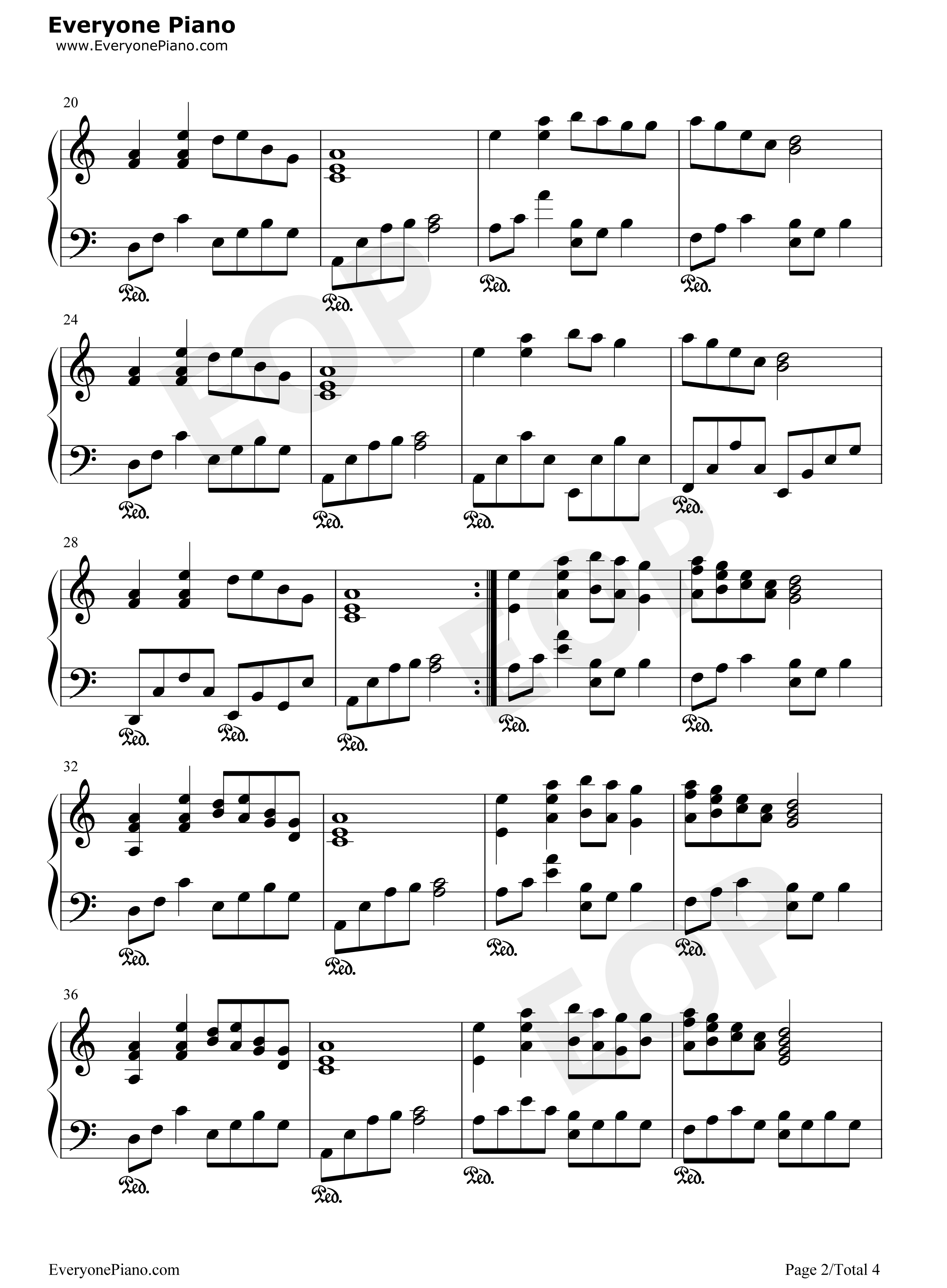 伤声歌�_伤声-eop教学曲五线谱预览2