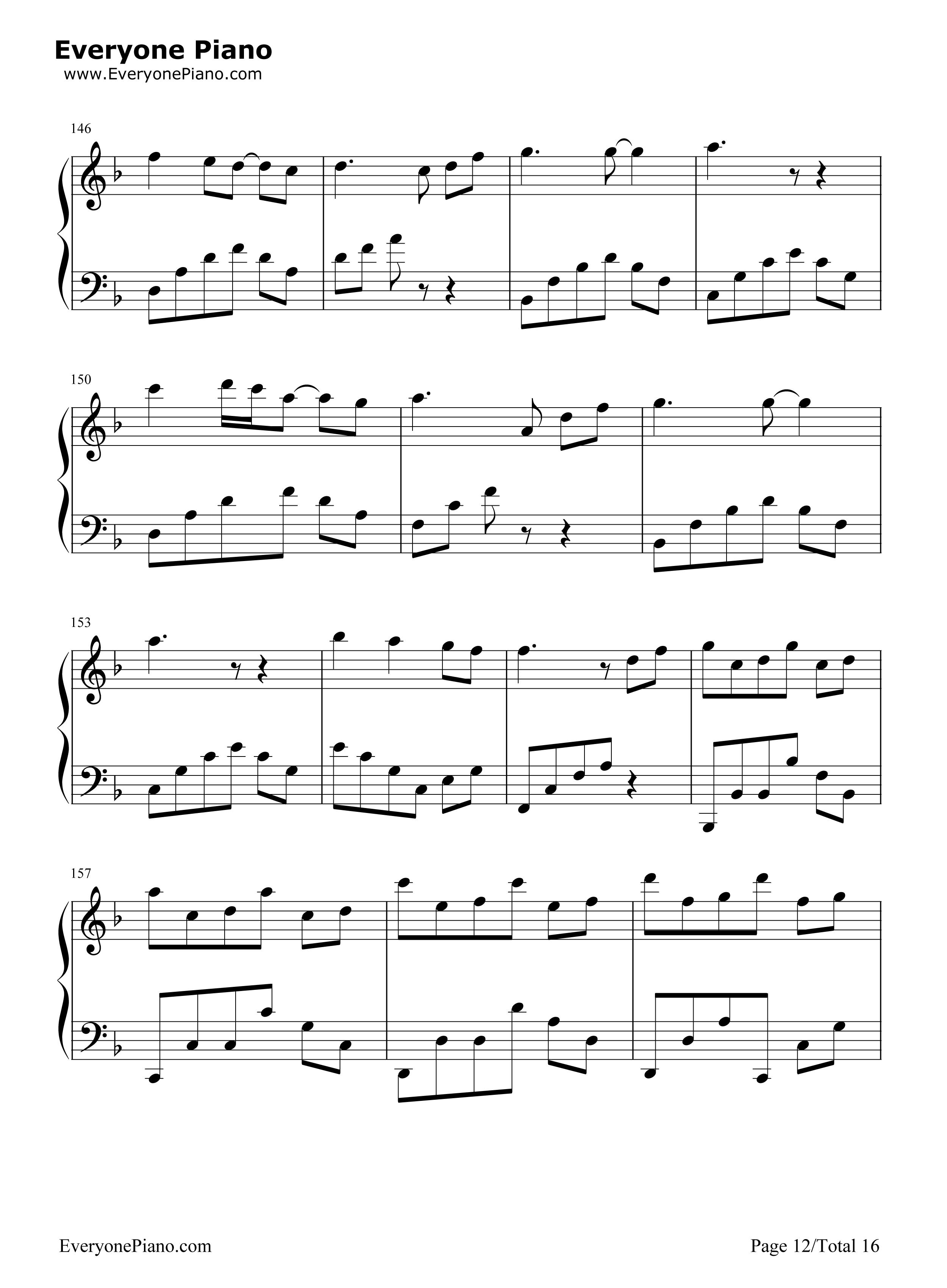 千本樱变奏曲五线谱预览12-钢琴谱档(五线谱,双手简谱