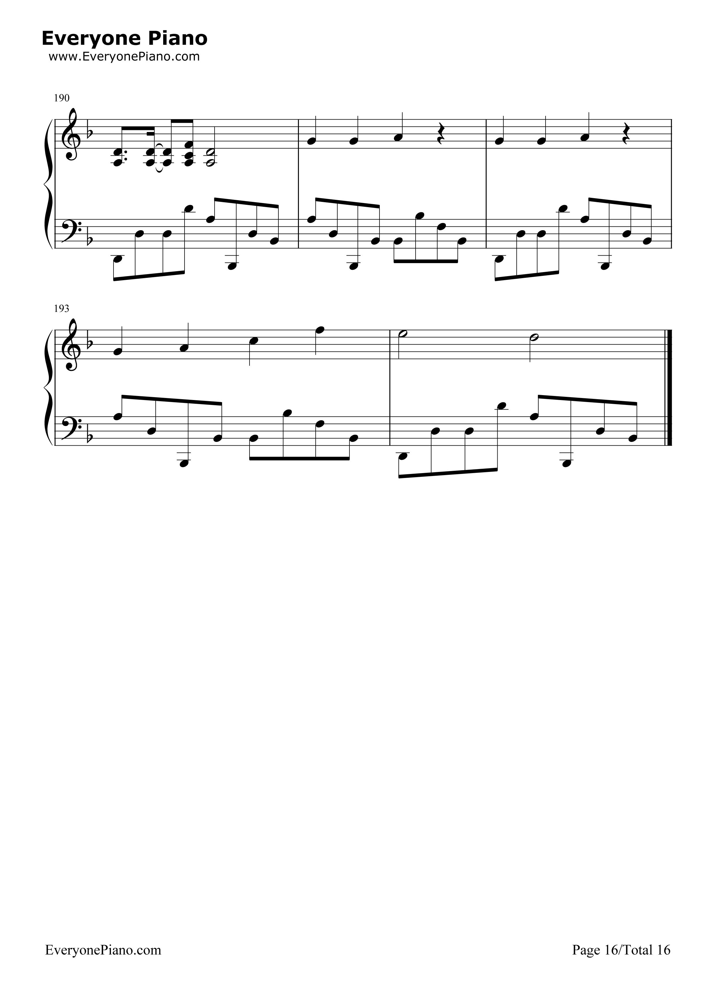 钢琴曲谱 流行 千本樱变奏曲 千本樱变奏曲五线谱预览16  }  仅供学习