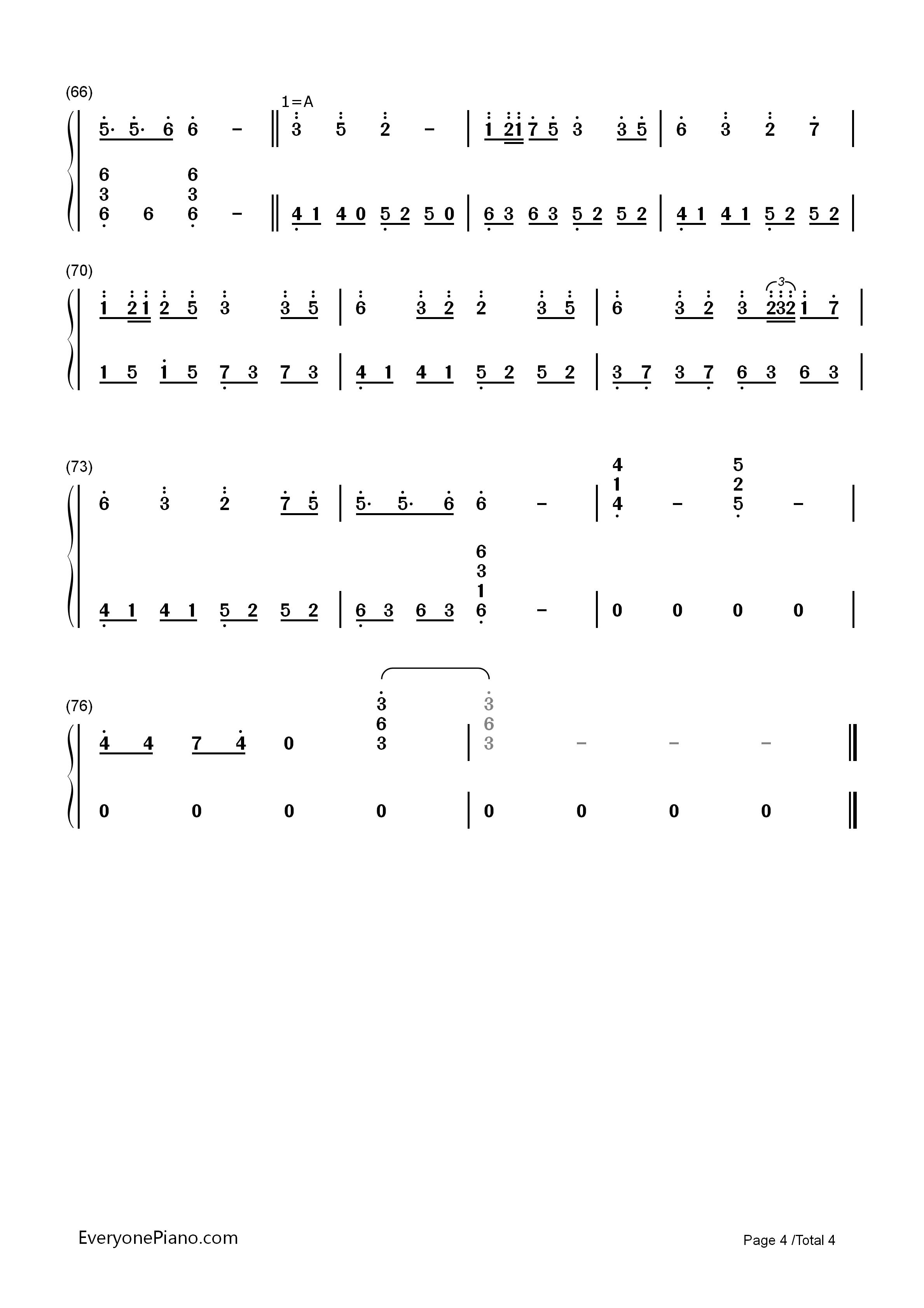 胧月-流星p-初音未来双手简谱预览