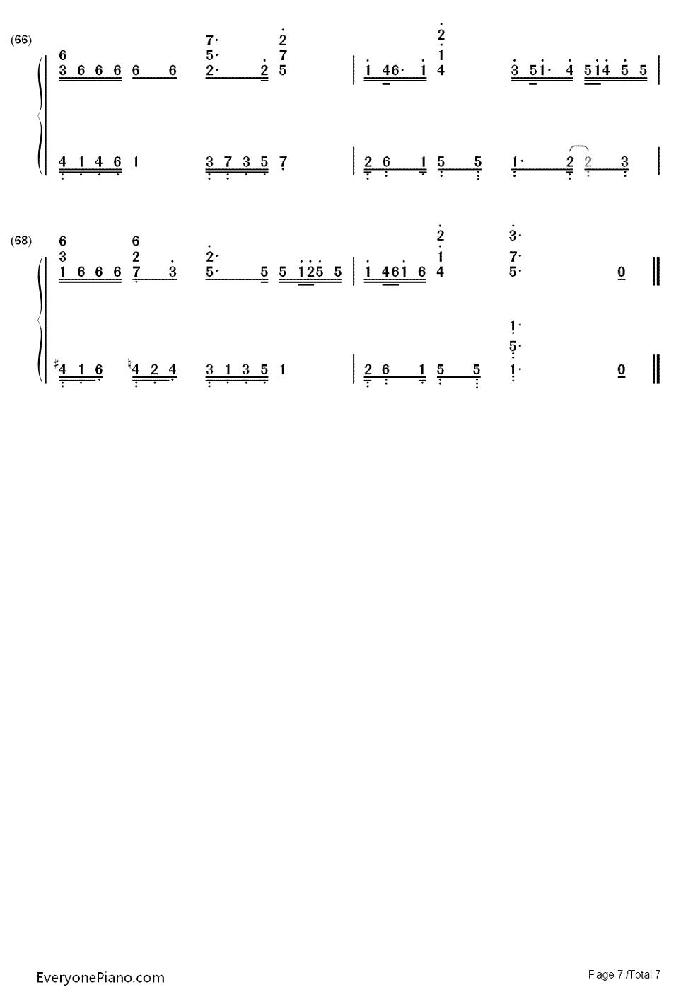 lion heart-smap-eop教学曲双手简谱预览7