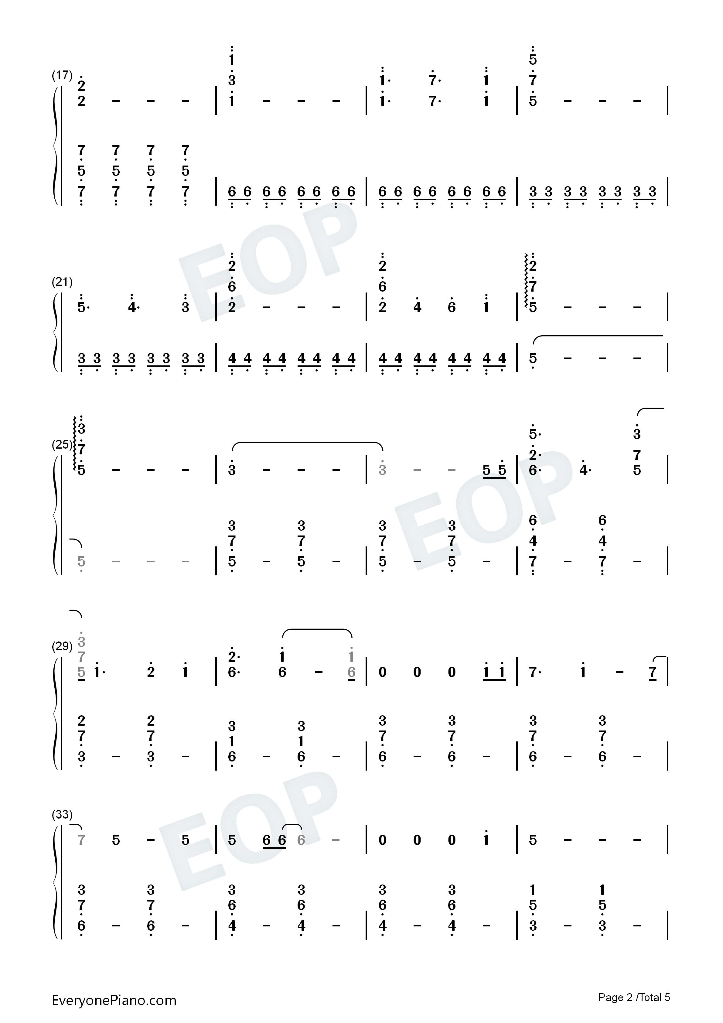 my dearest-《罪恶王冠》片头曲双手简谱预览2-钢琴
