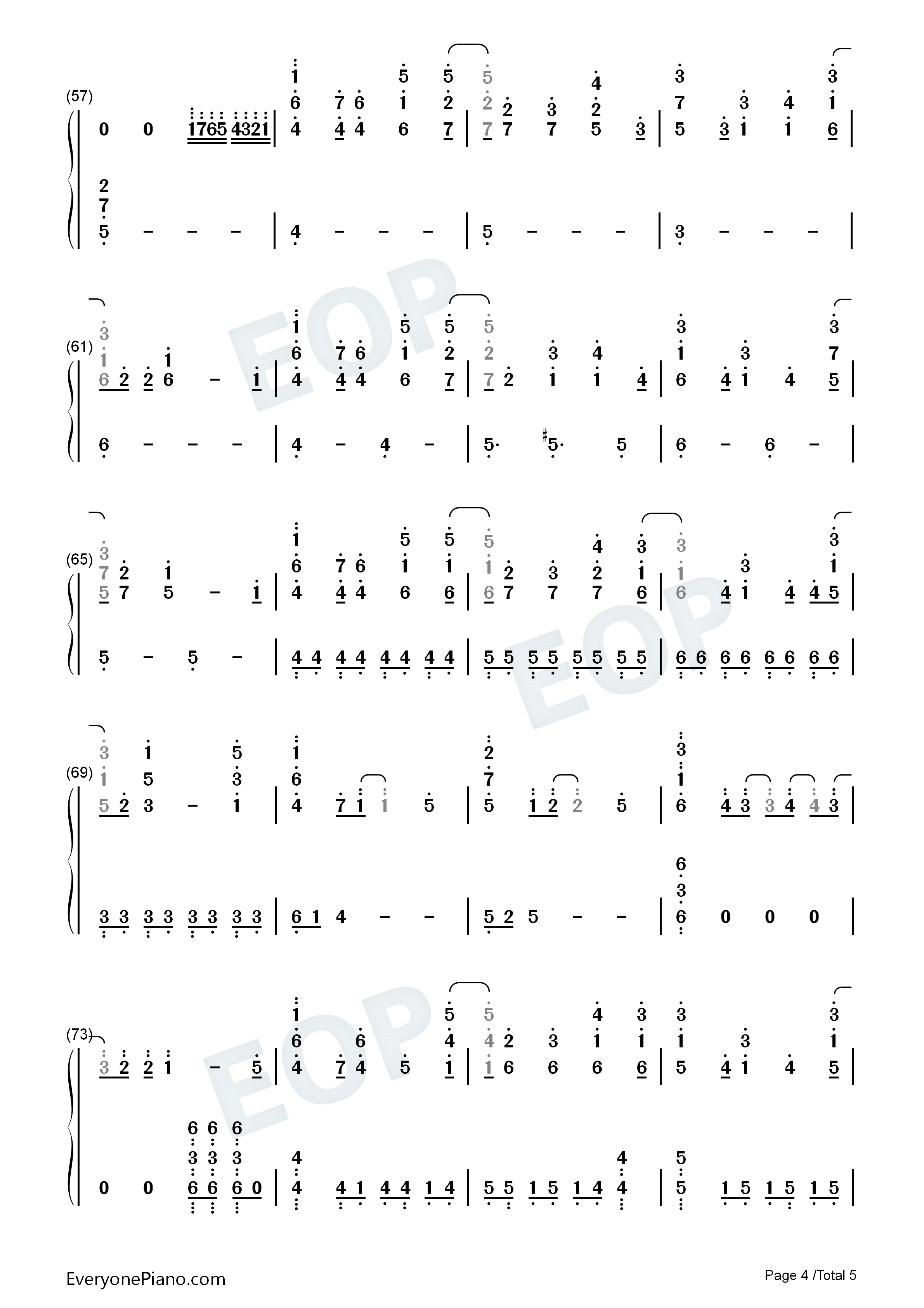 my dearest-《罪恶王冠》片头曲双手简谱预览4-钢琴