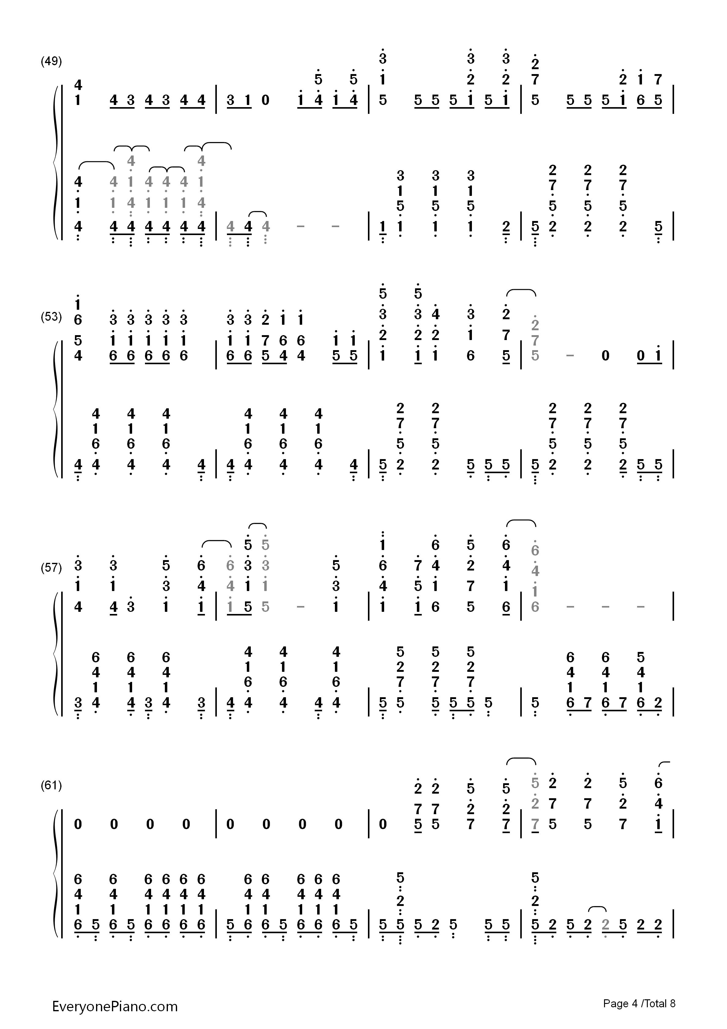 钢琴曲谱 影视 let it go完整版-动画冰雪奇缘主题曲 let it go完整版