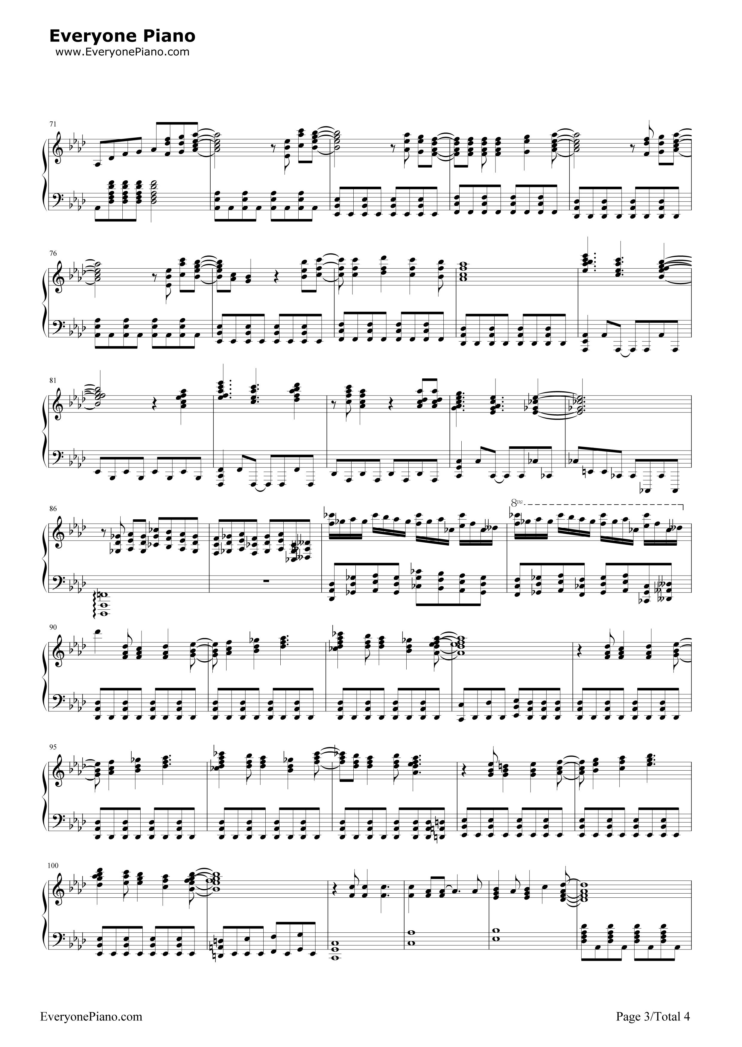 网站首页 钢琴曲谱 流行 let it go完整版-动画冰雪奇缘主题曲 >> let