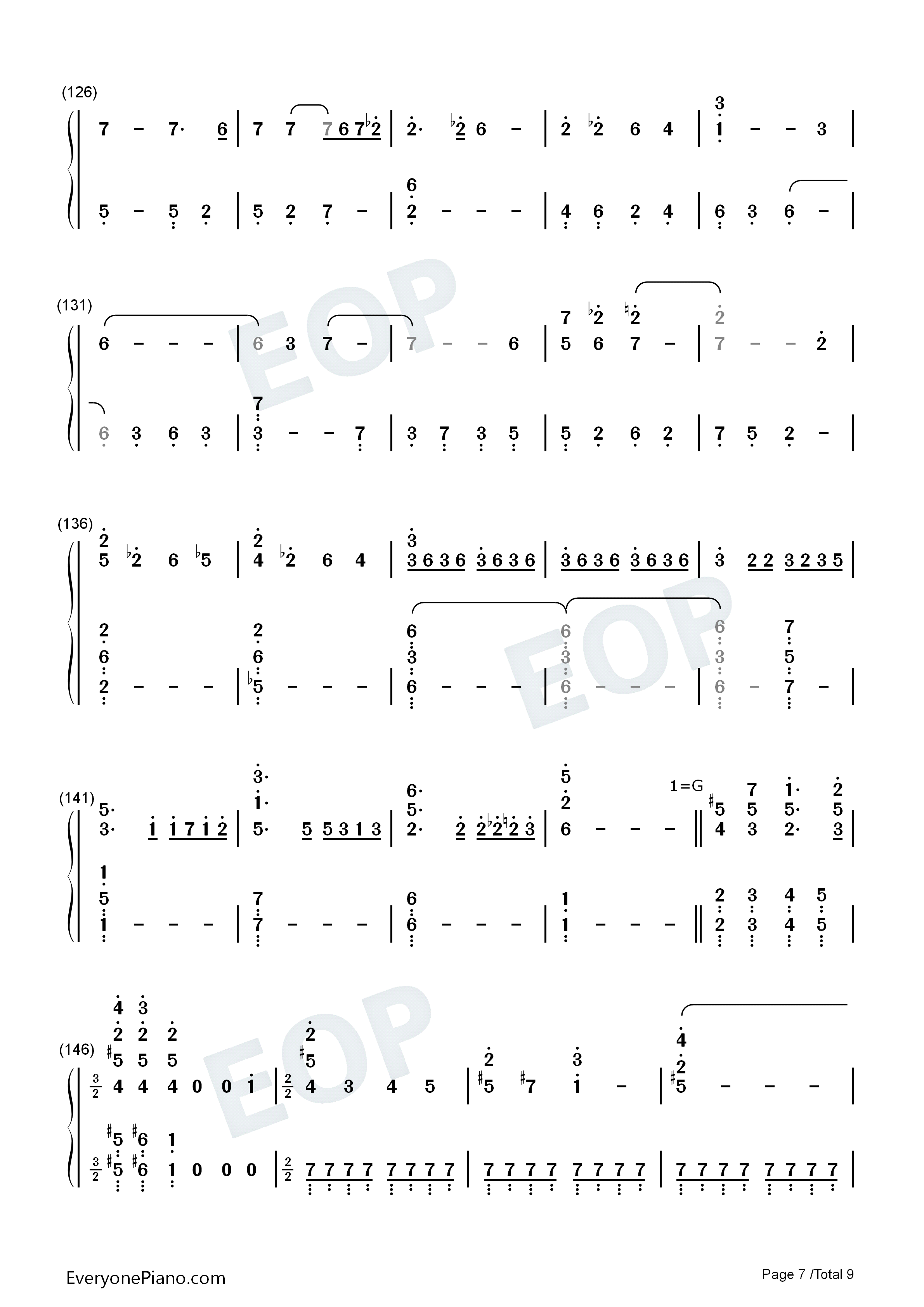 forever-冰雪奇缘插曲双手简谱